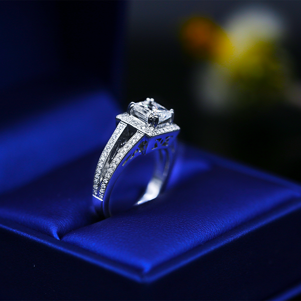 Handmade 18k White Gold