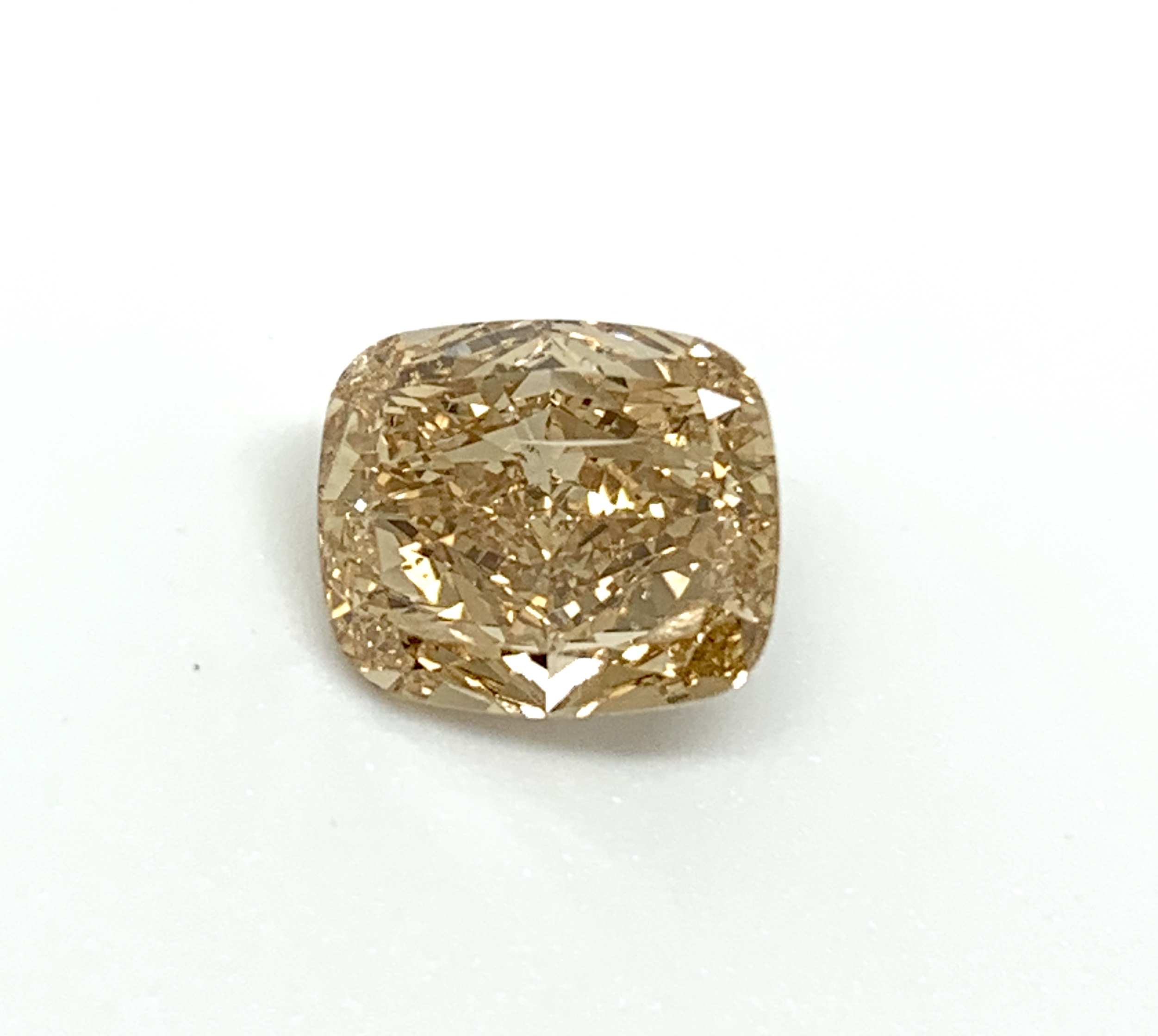 3 96ct Fancy Brown Yellow Cushion Cut Diamond