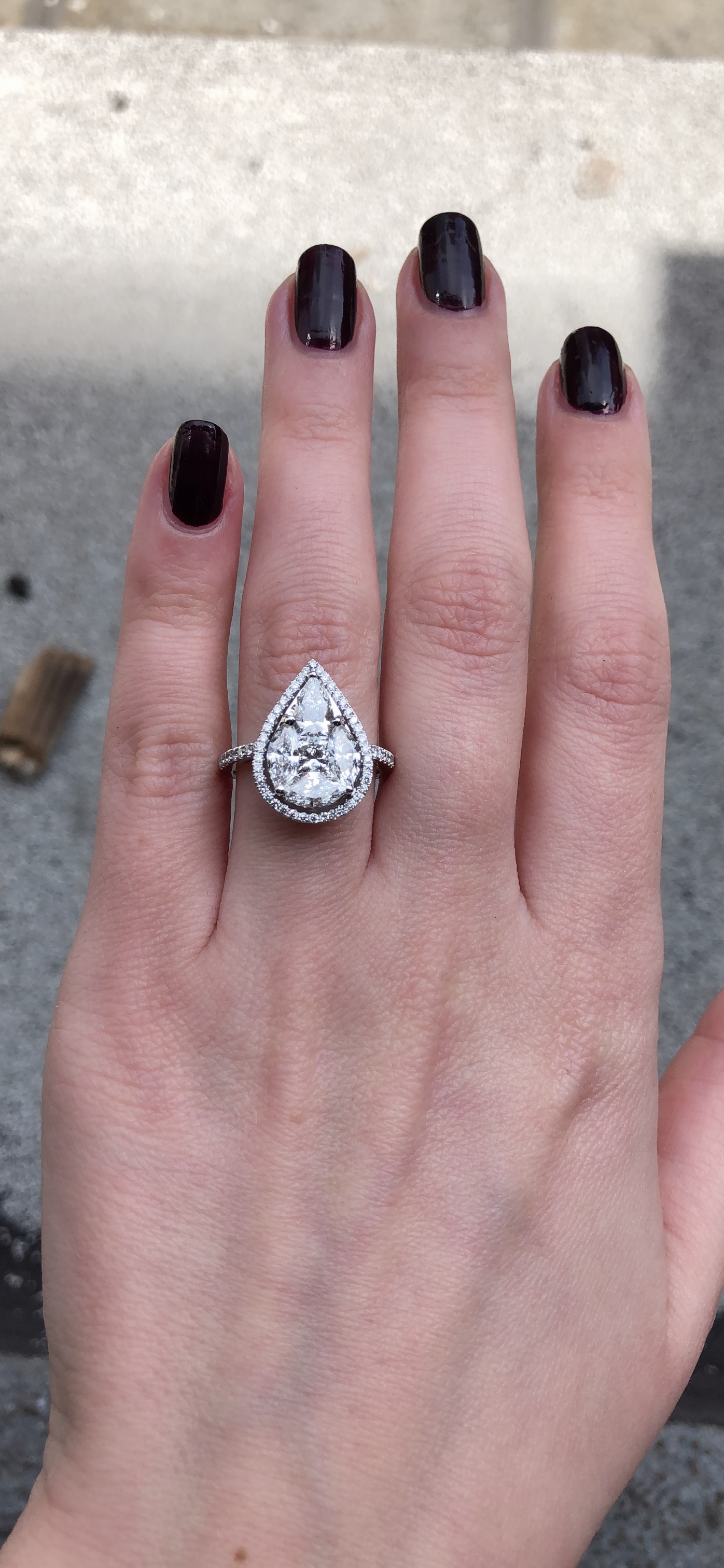 Pear Cut Diamond Engagement