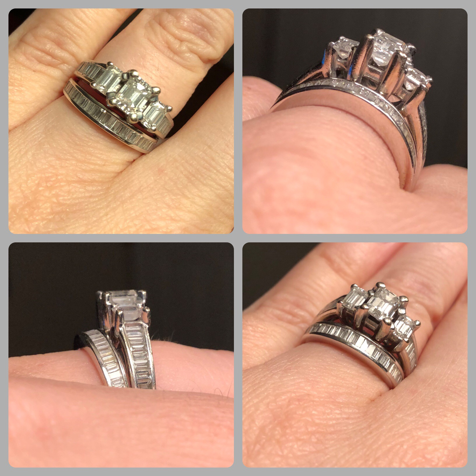 It is just an image of Jared Emerald Cut Engagement Ring/Wedding Band Set