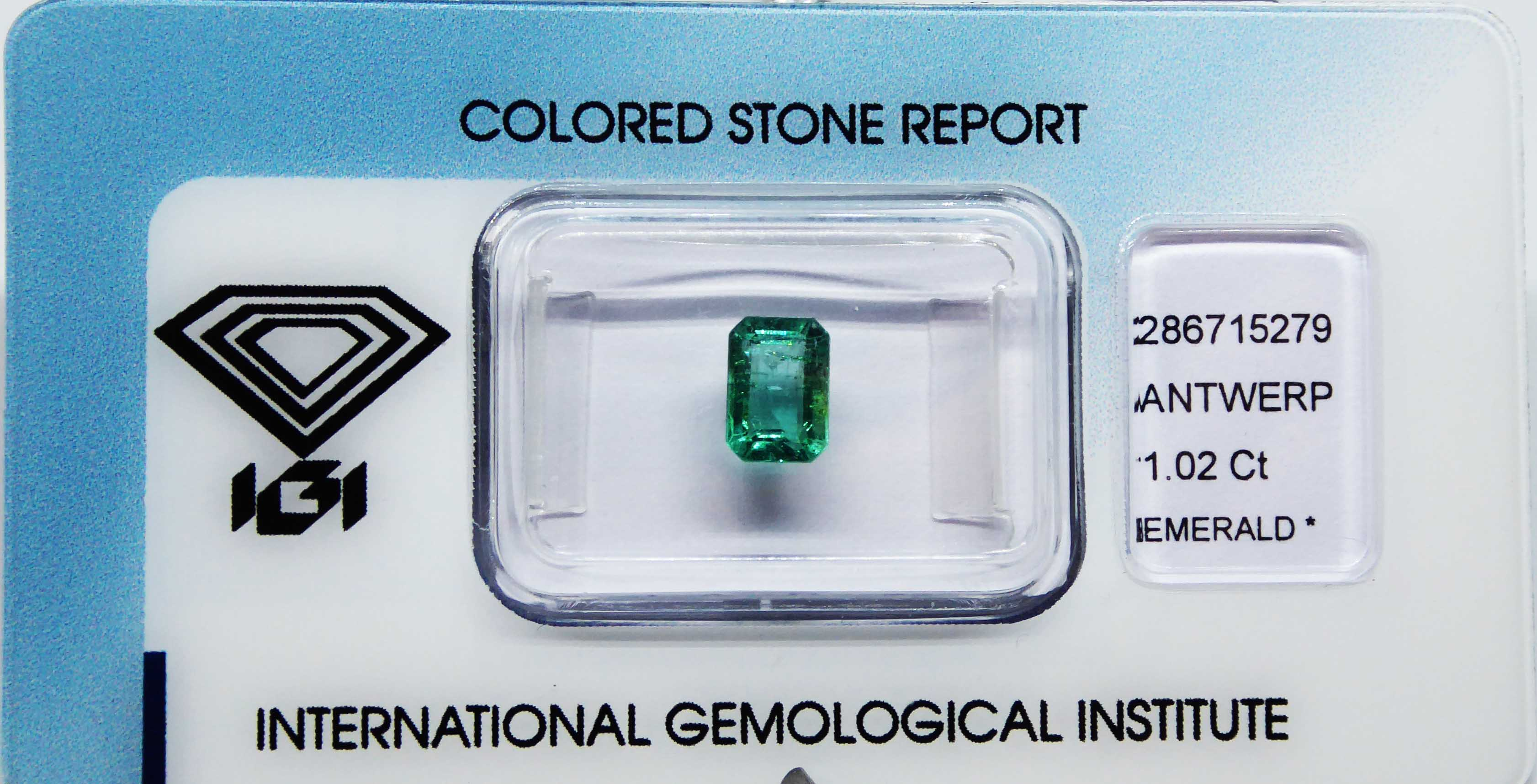 IGI Certified 1.02ct Natural