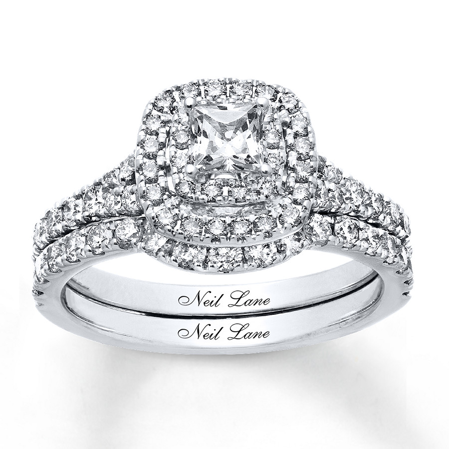 081c2ac76 Neil Lane Round Diamond Engagement ring with wedding band | I Do Now ...