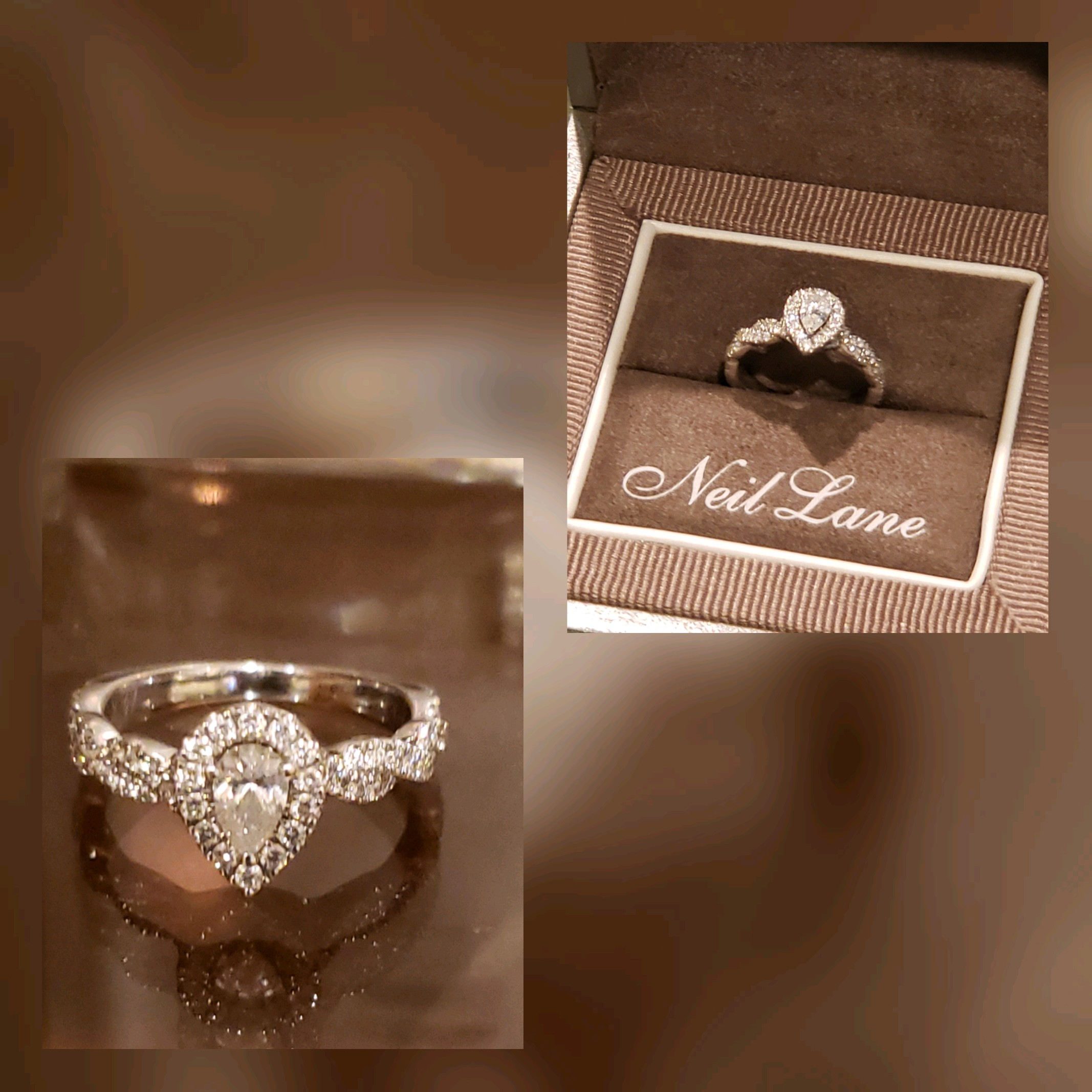 78a61d0a9 Neil Lane Pear Cut Diamond with Halo Bridal Set 7/8 Carat TW | I Do ...
