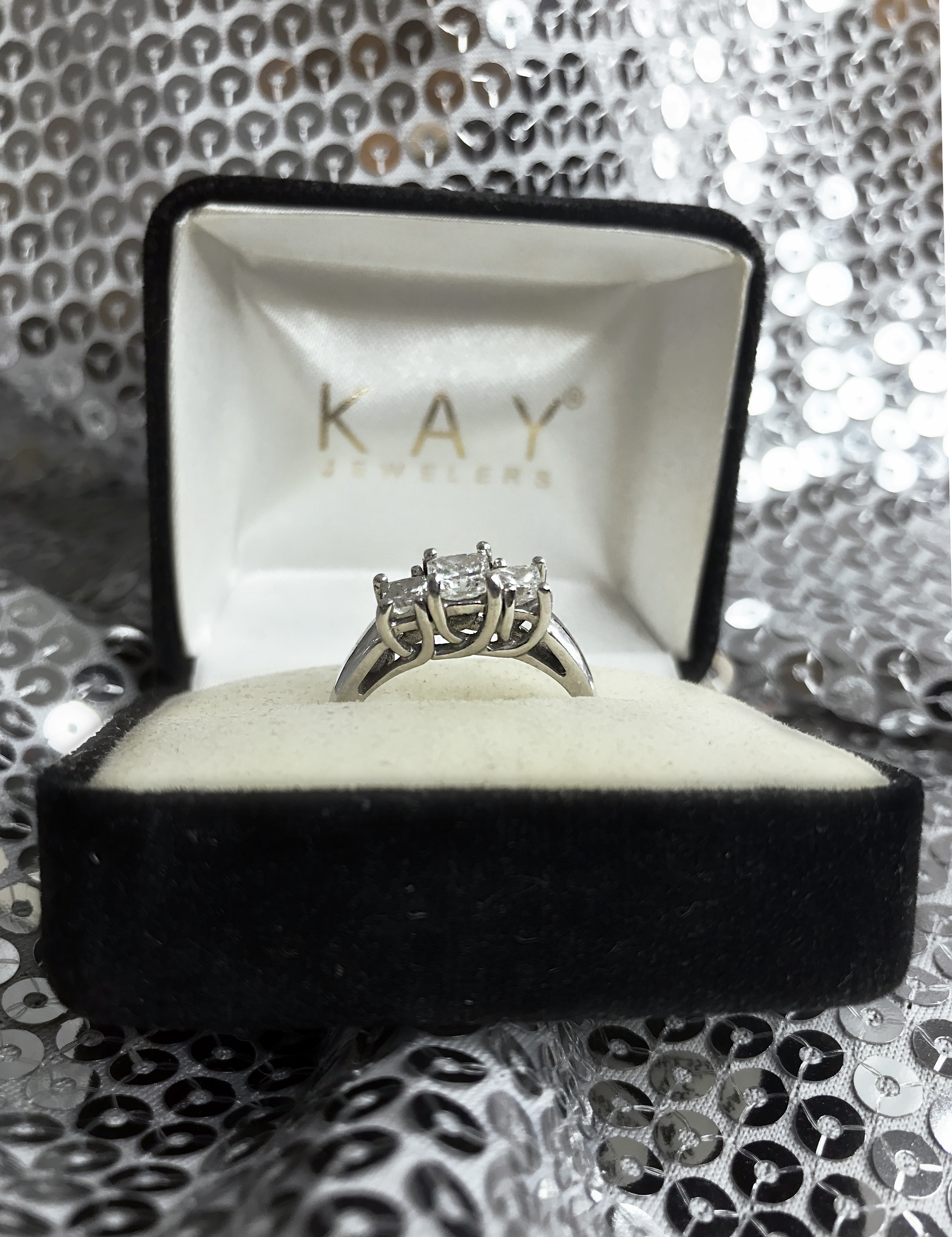 Kay Jewelers Past Present And Future 3 Stone Diamond Ring I Do Now I Don T