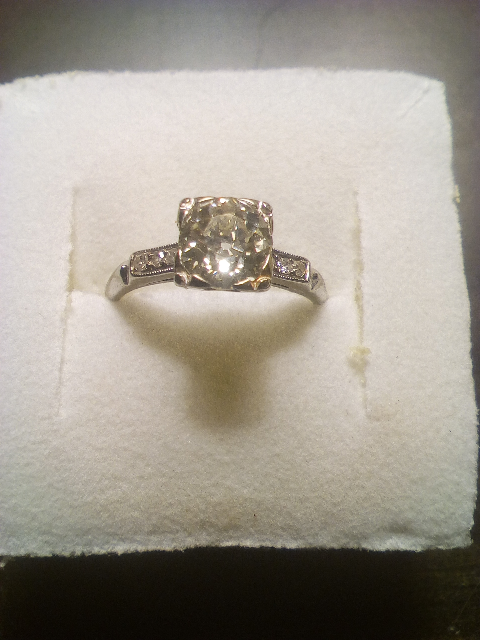 Crossover Ring Solitaire Ring Yellow and White Gold Ladies Ring hallmarked