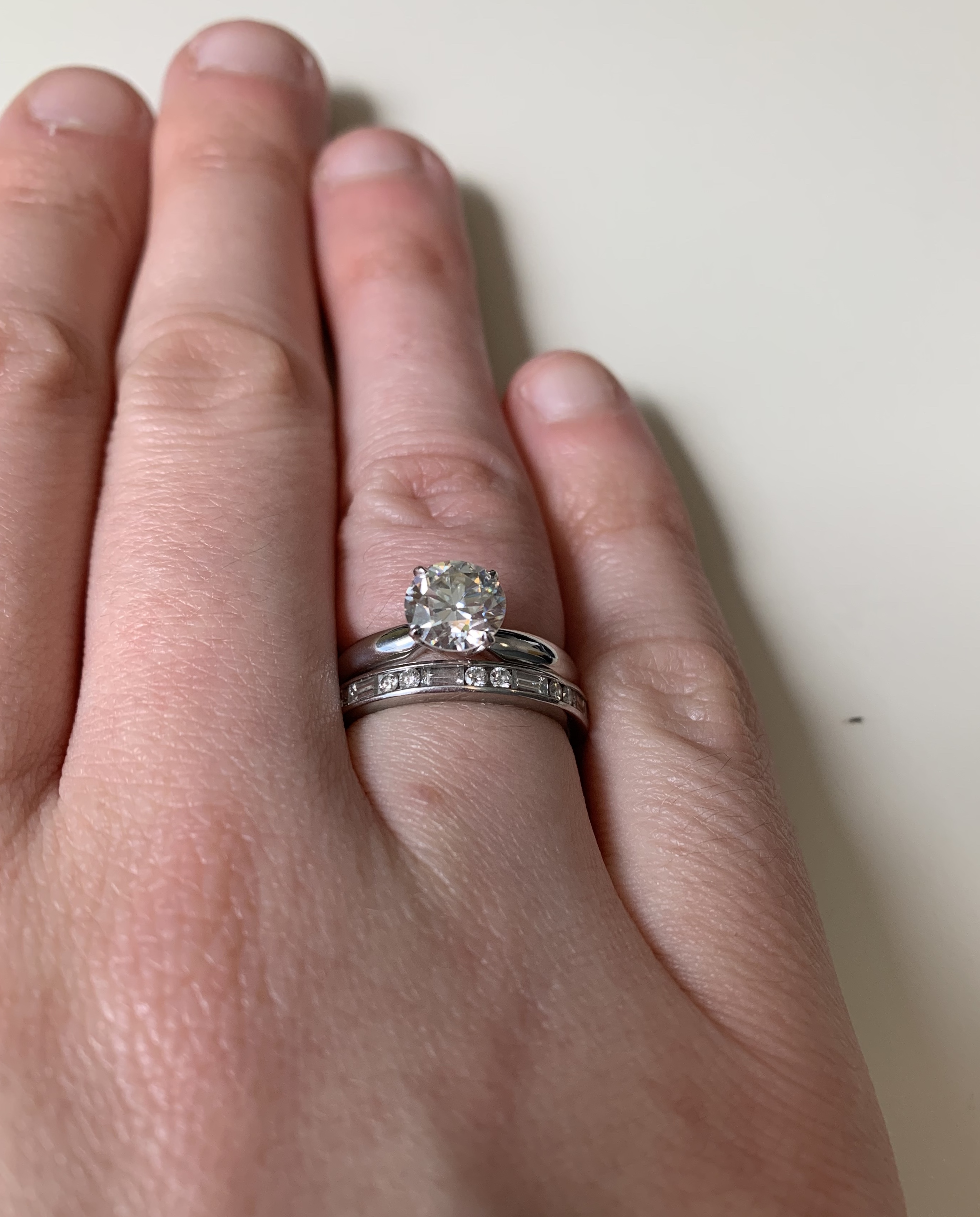 platinum claw prong ring