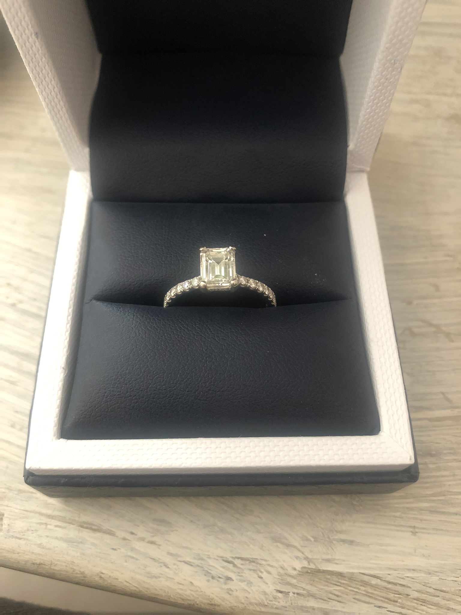 1.20 Carat Emerald Engagement
