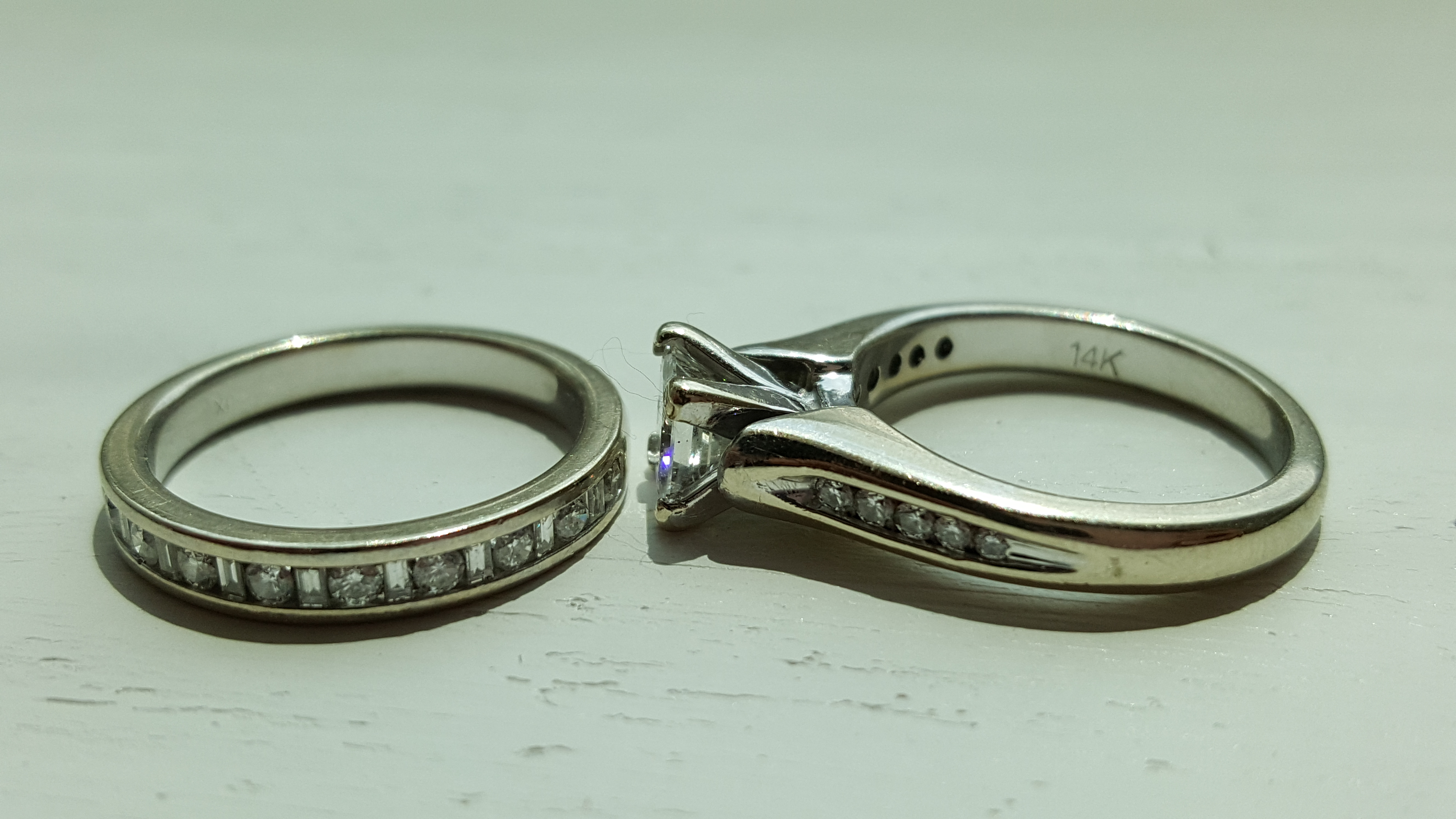 1.25CTW DIAMOND RING SET