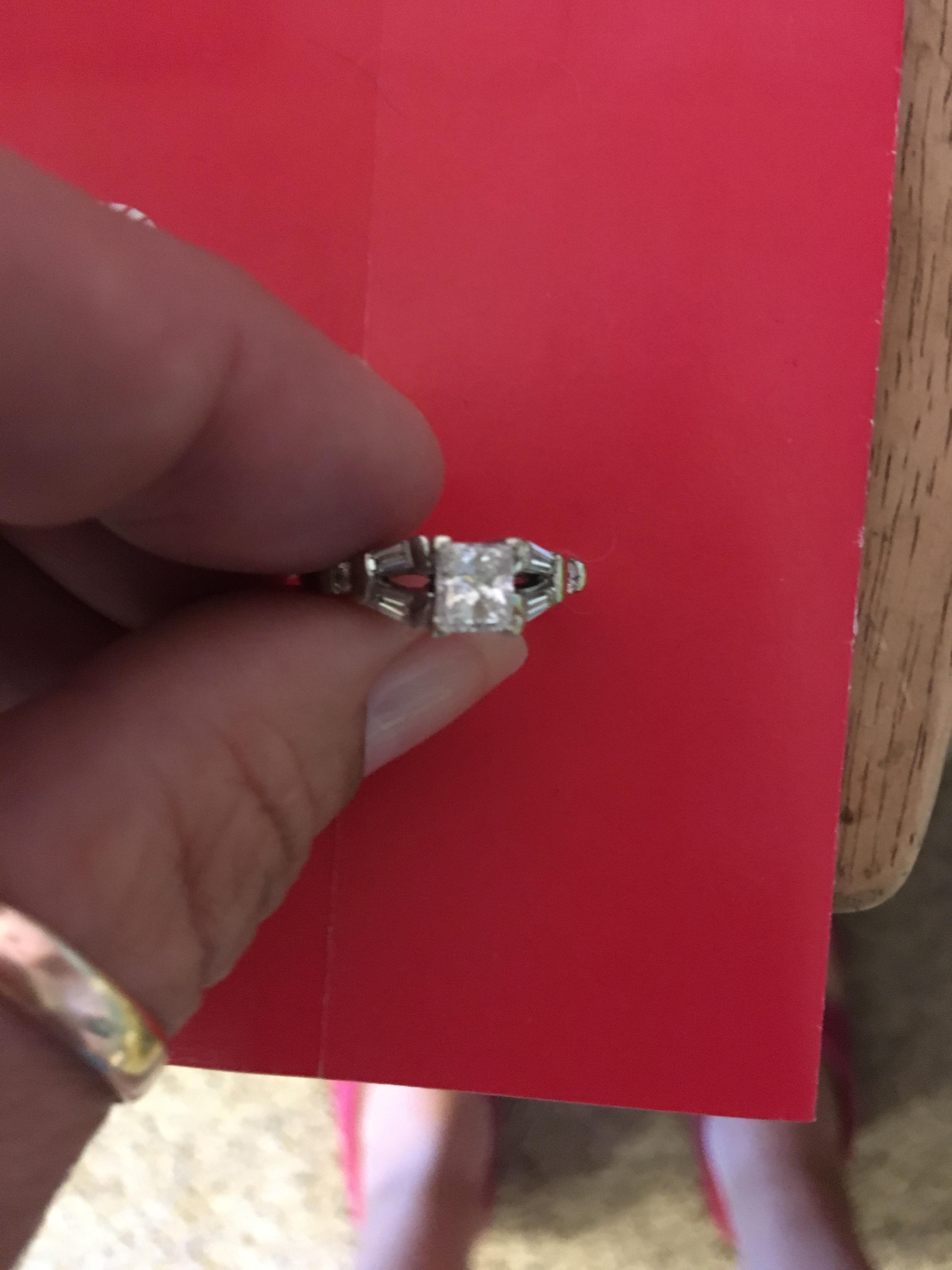 Beautiful princess cut diamond