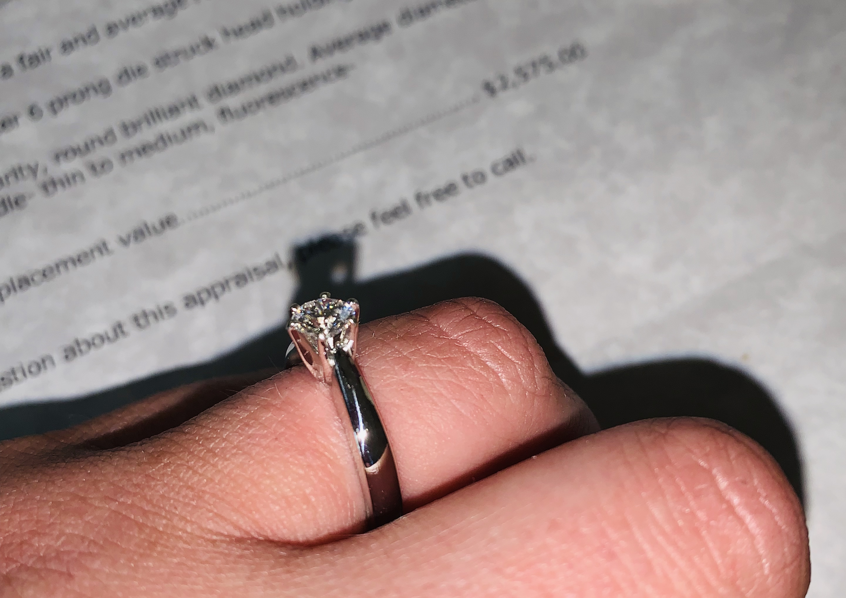 Custom Diamond Platinum Solitaire