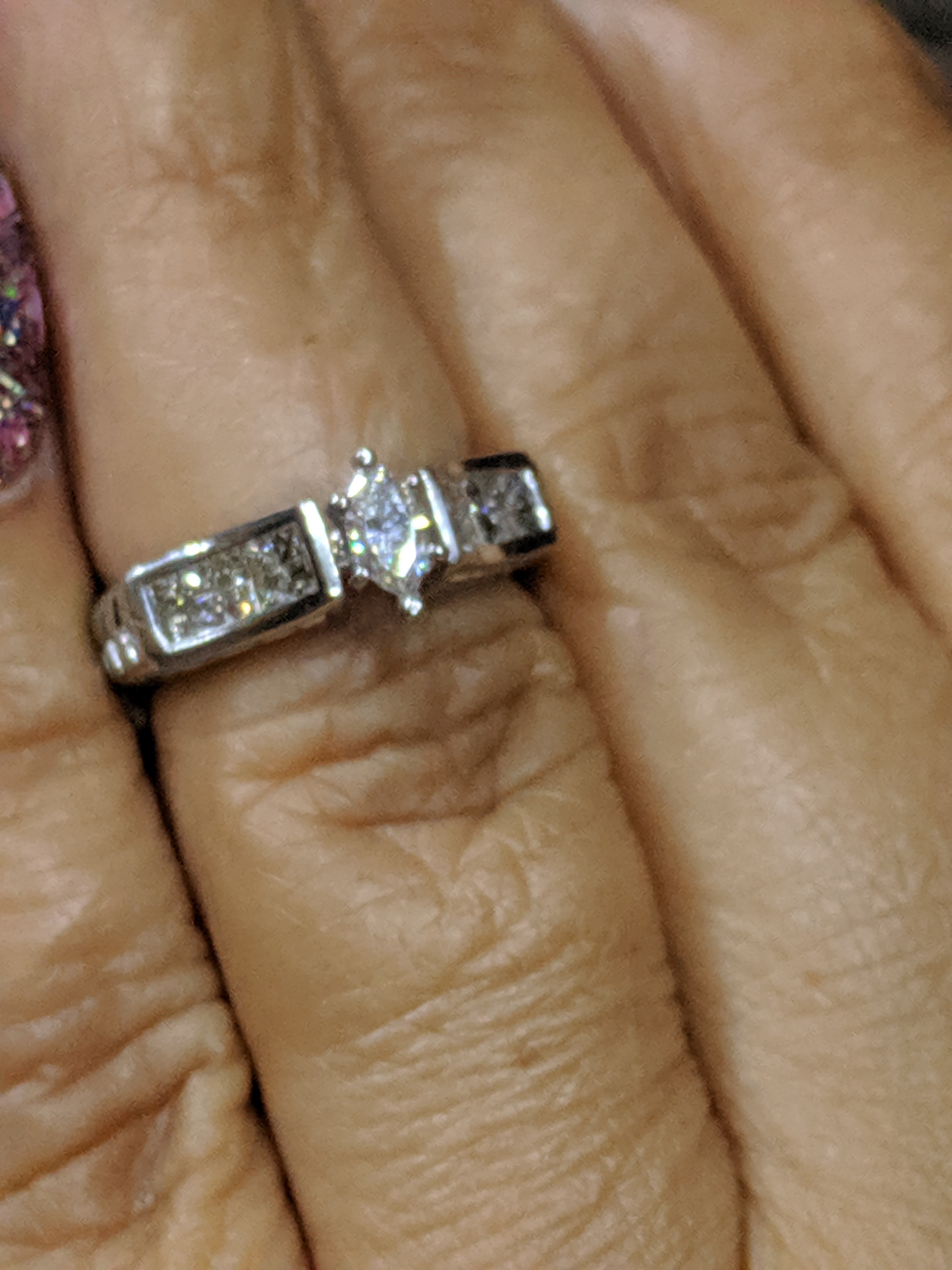 Beautiful marquise diamond engagement