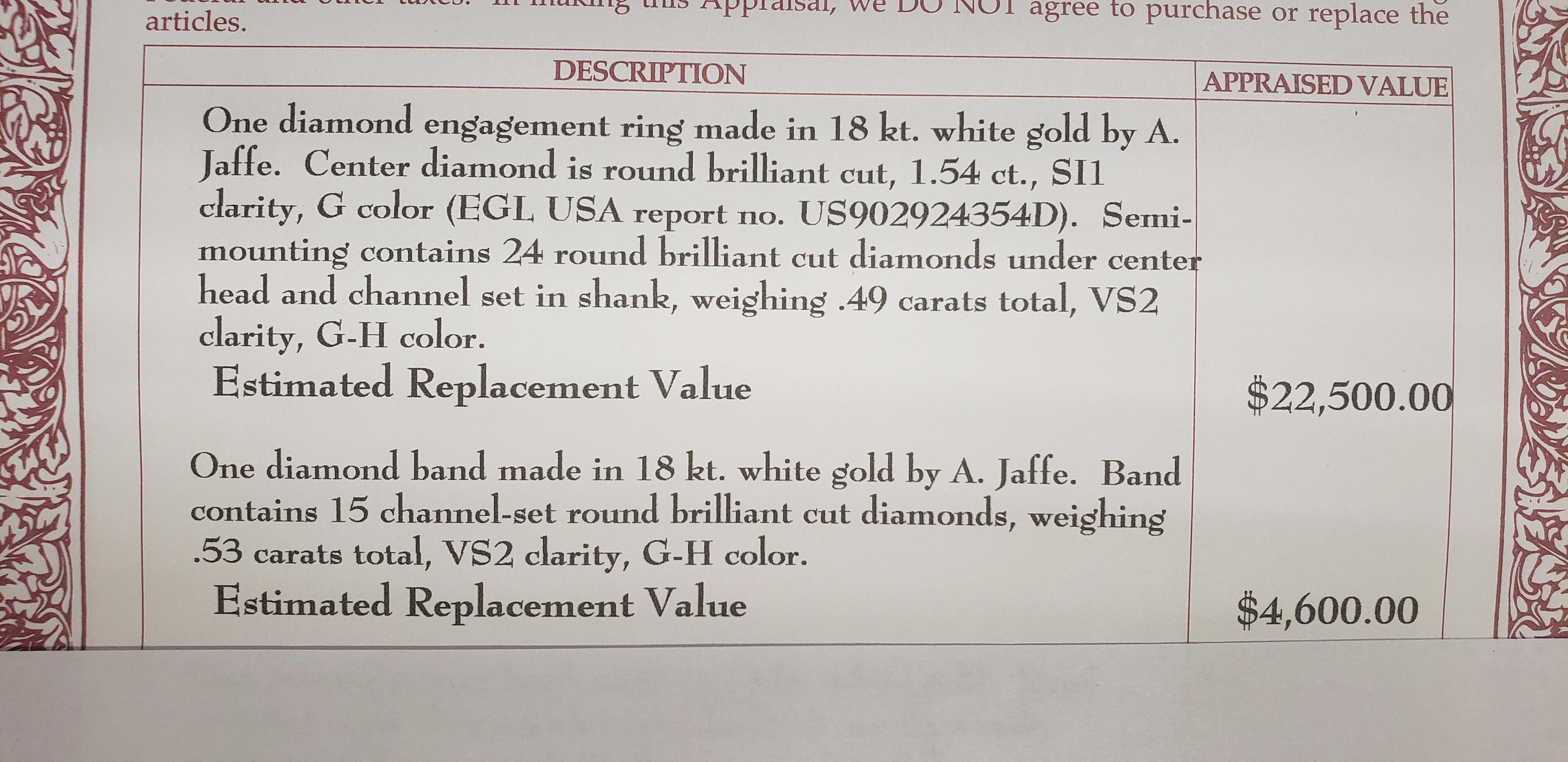 A. JAffe Round Diamond