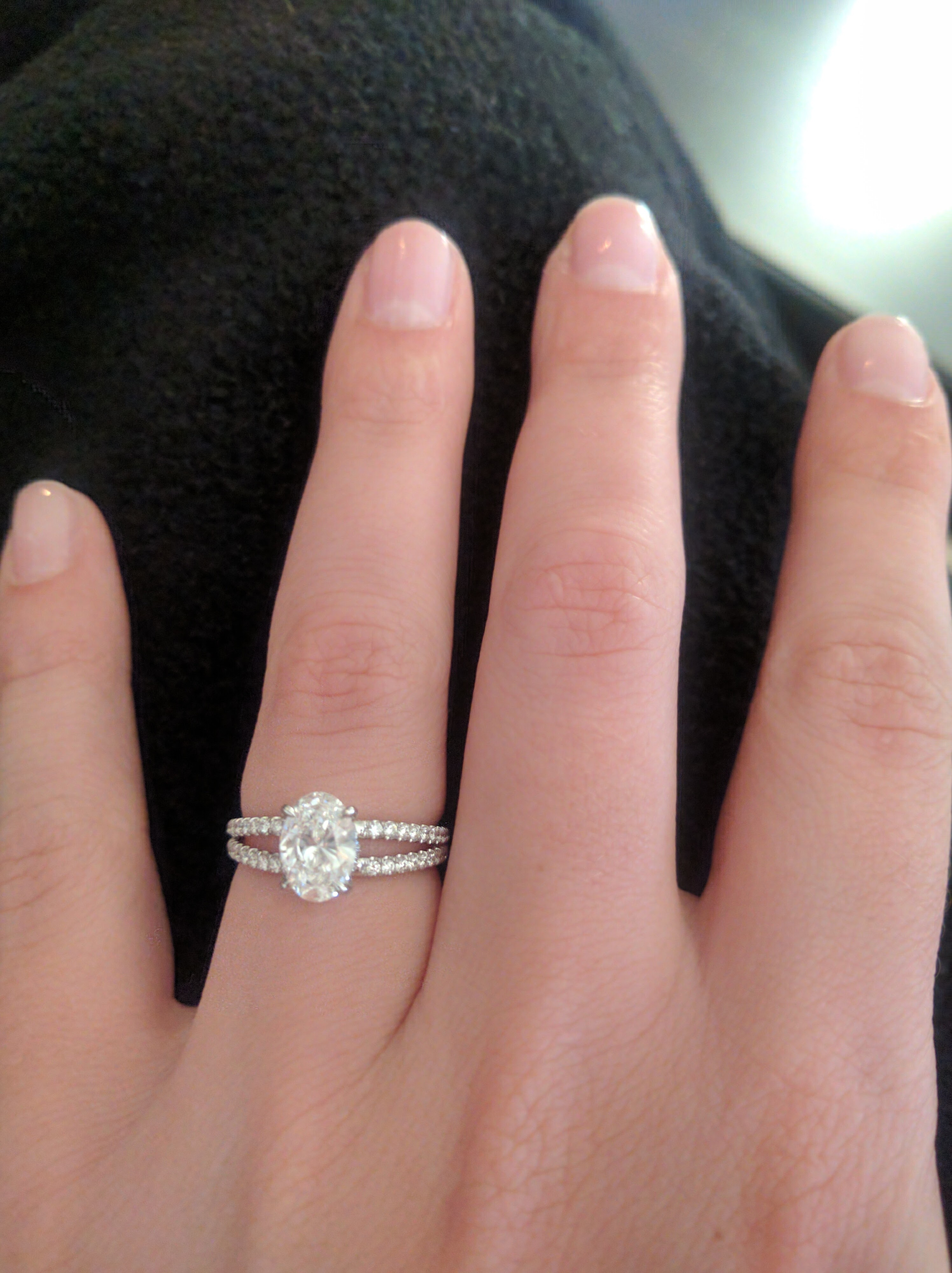 Beautiful 1ct Oval Diamond Engagement Ring In A White Gold Split Shank Setting I Do Now I Don T