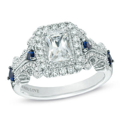 Vera Wang Love Collection 1 1 8 Ct T W Emerald Cut