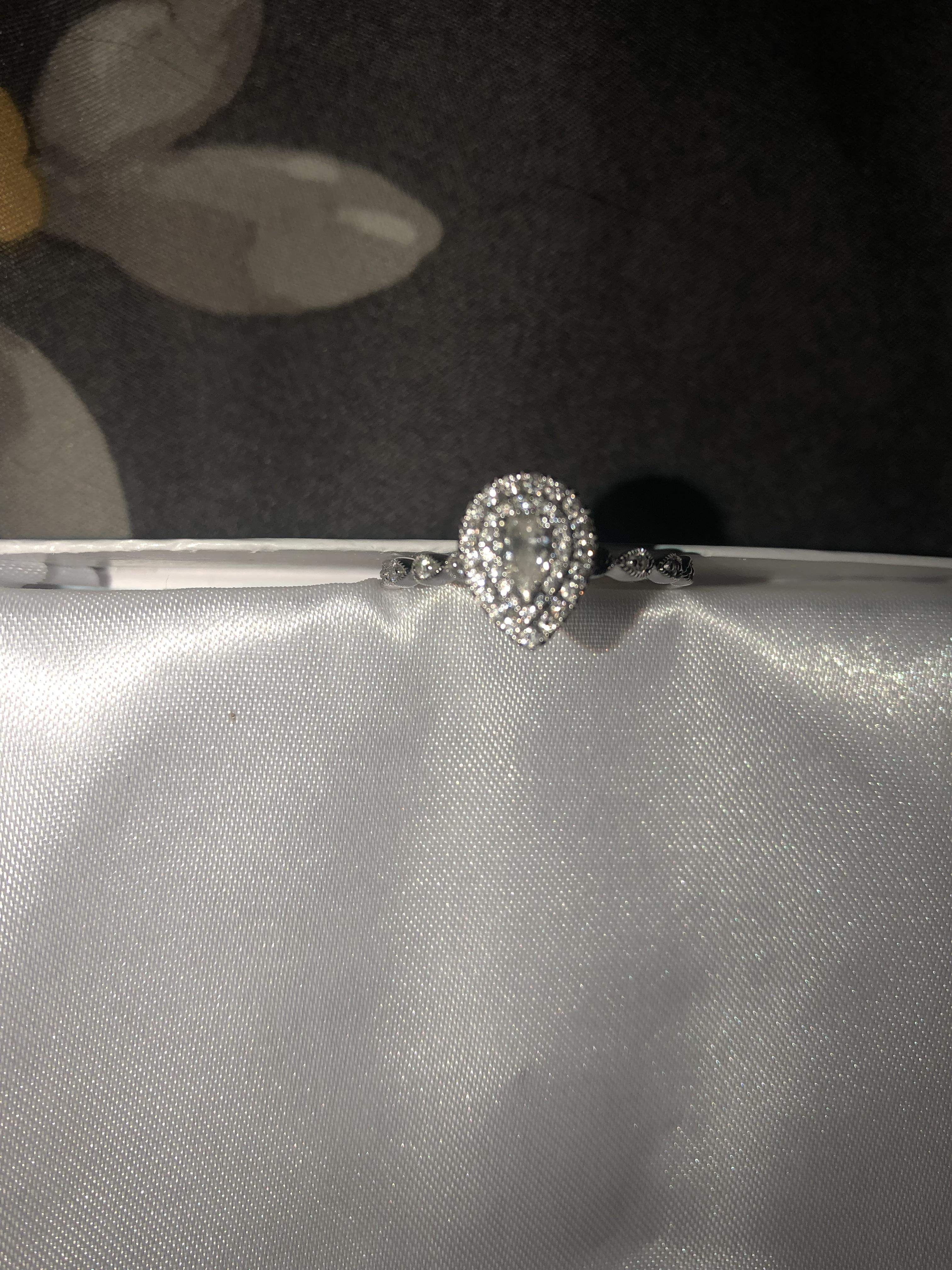 Zales Pear Shaped Diamond Wedding Engagement Ring I Do Now I Don T
