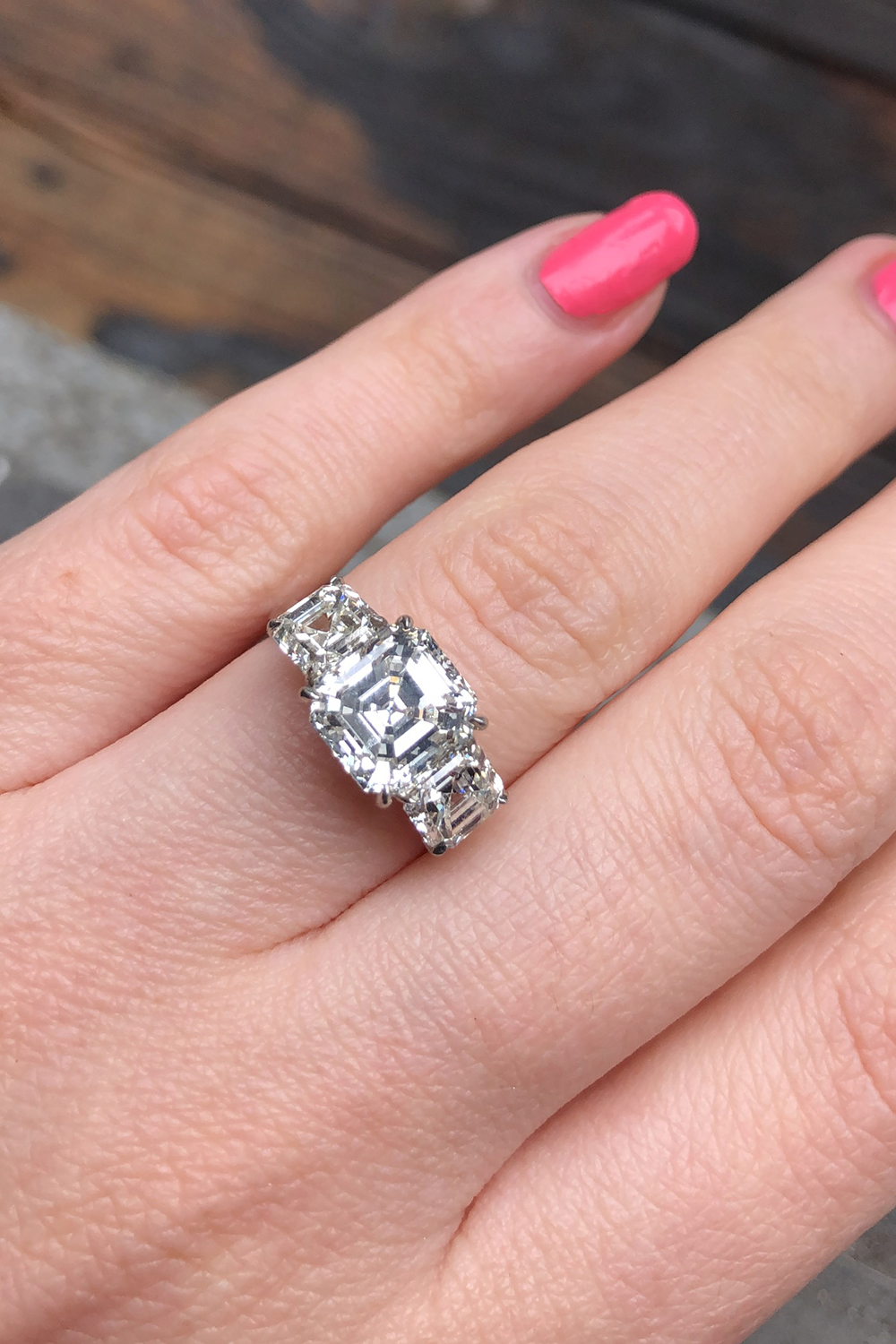 Precious Platinum Three-stone Engagement