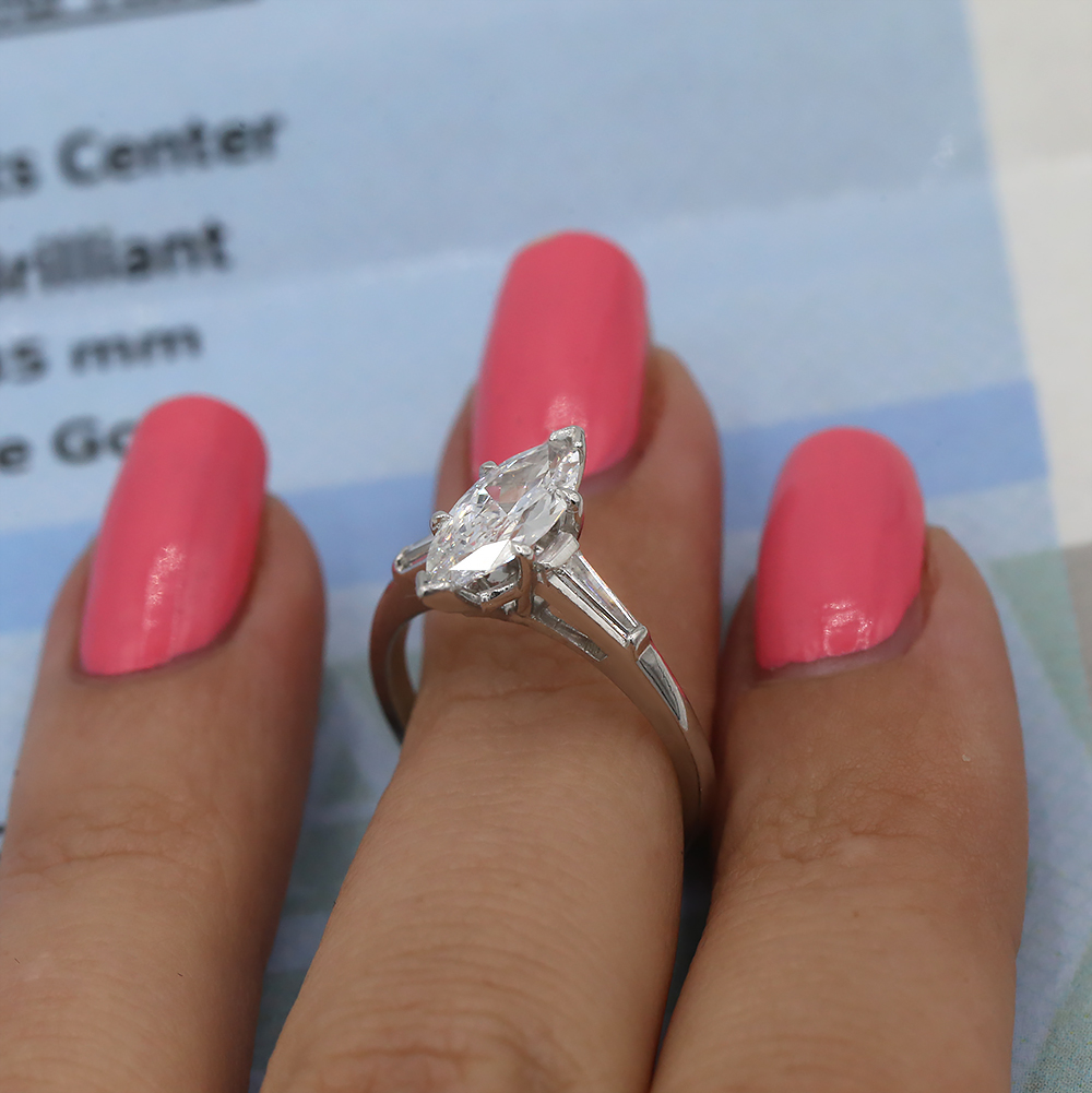 Amazing natural marquise shaped