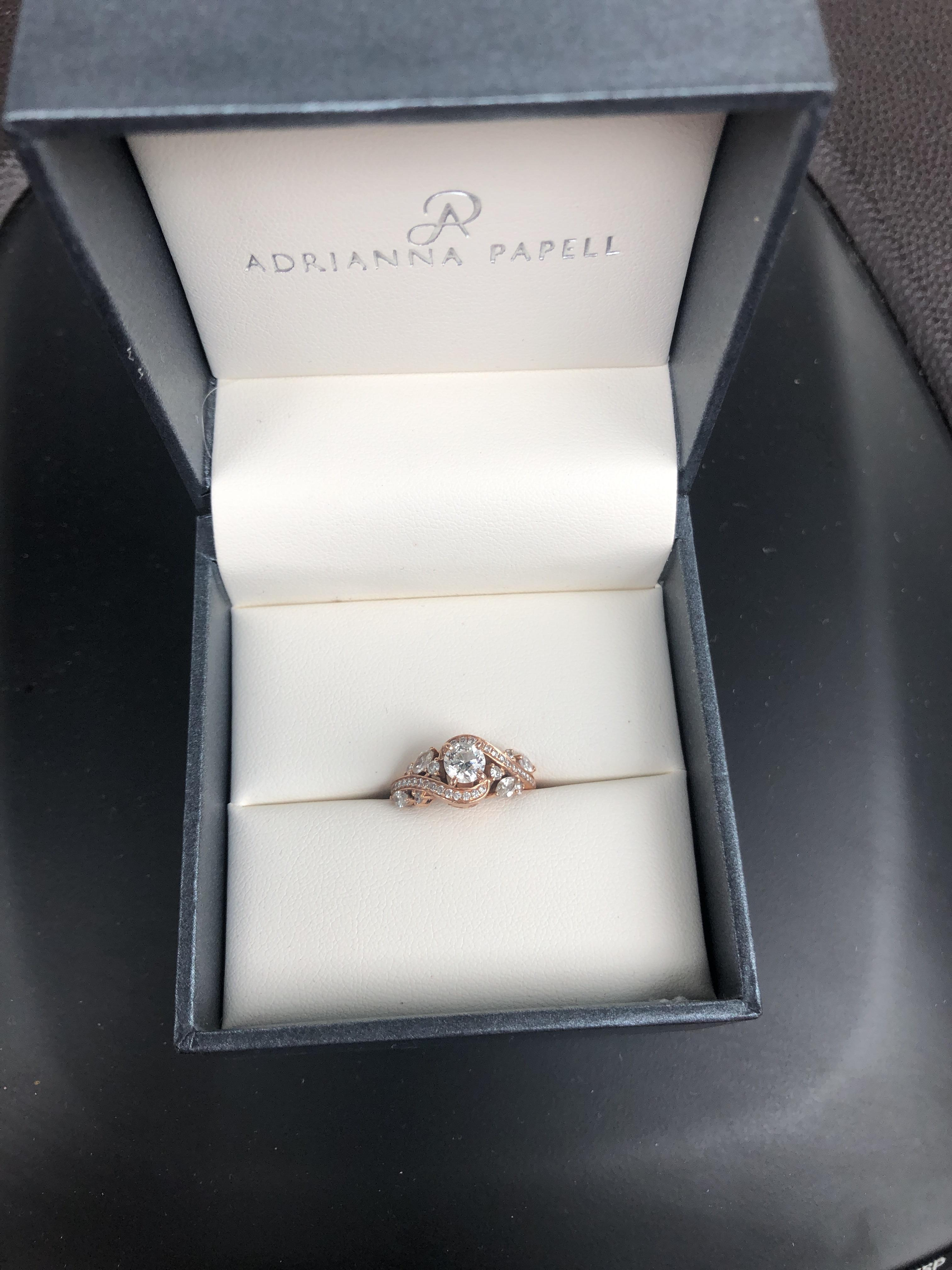 Zales Adrianna Papell Round Diamond Engagement Ring I Do Now I Don T