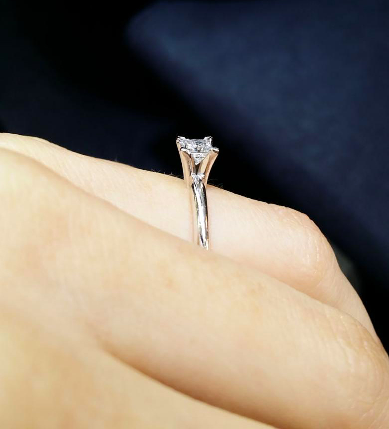 Beautiful princess cut engagement
