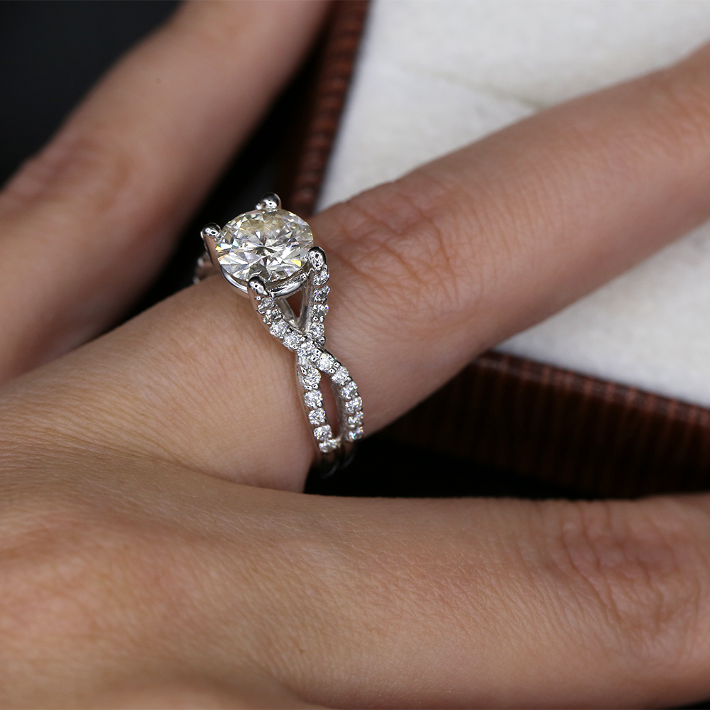 Precious 14k White Gold Engagement Ring With 2 00ct Diamonds I Do Now I Don T