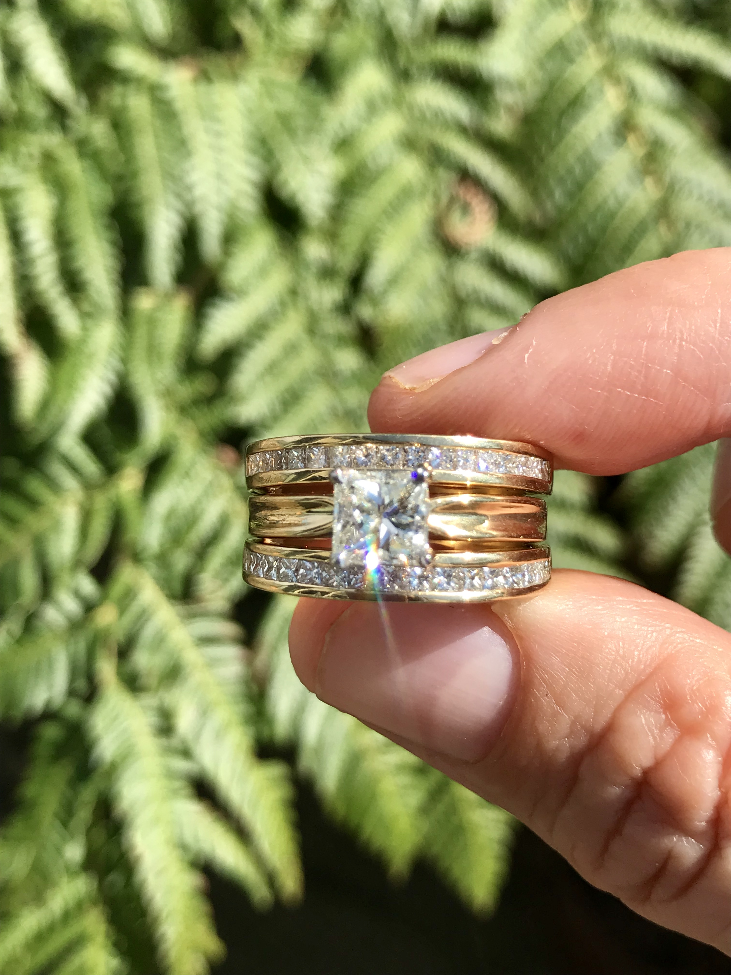 18kt yellow and white