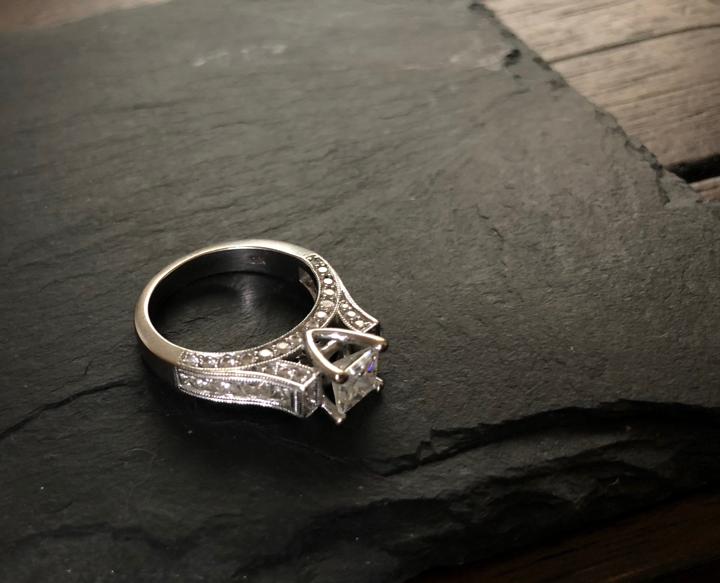 Custom Hayatan Engagement Ring