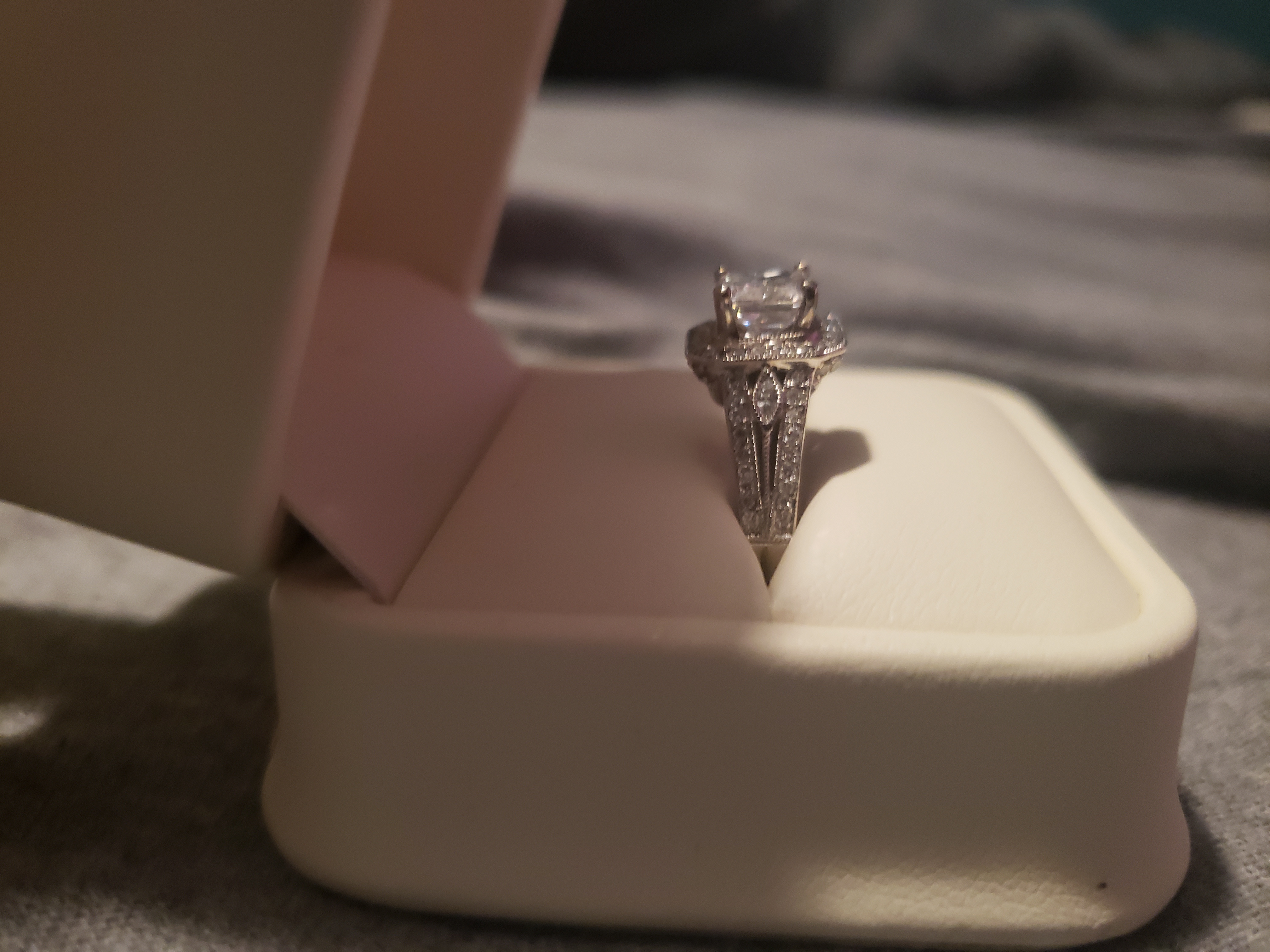 Beautiful Radiant Diamond Engagement