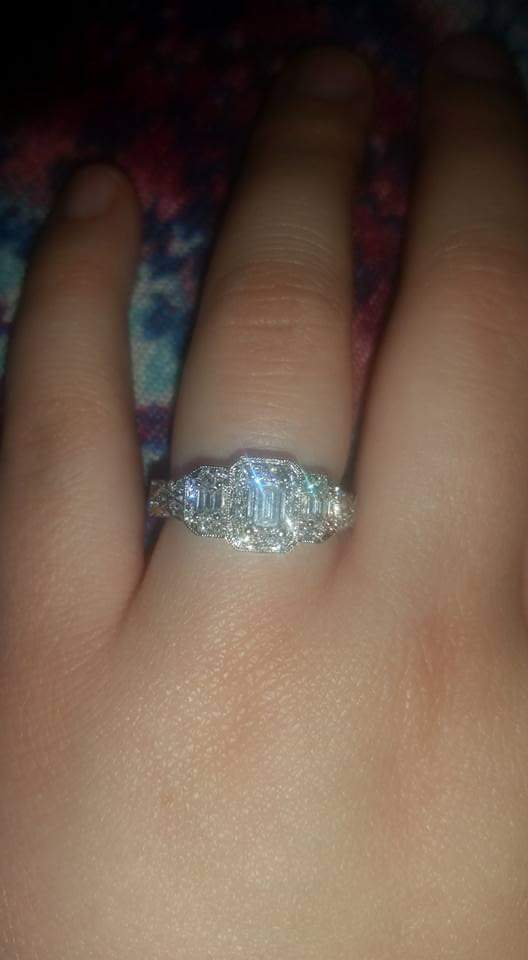 Zales Emerald cut diamond