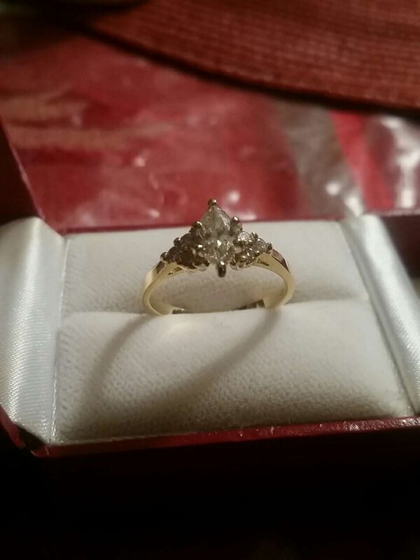 Marquise Diamond Engagement Ring