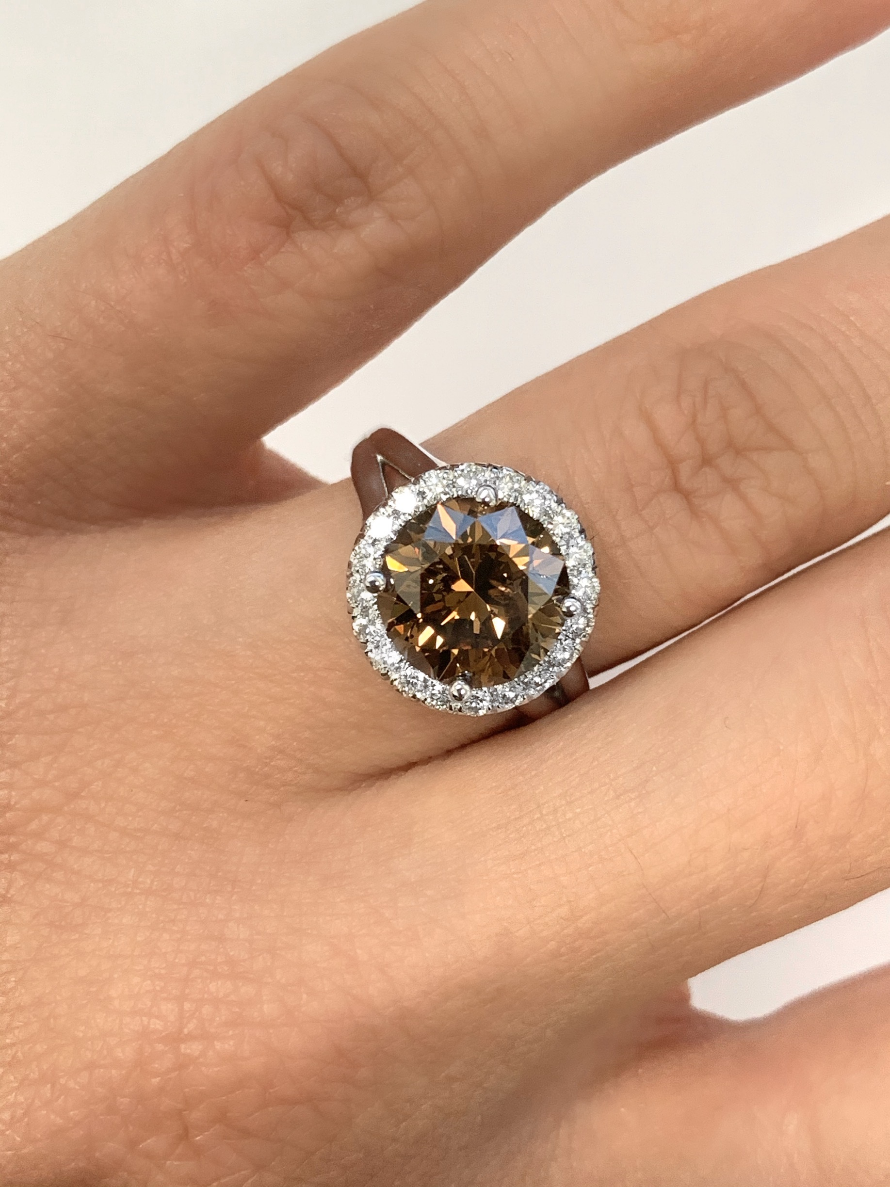 3.67ct Fancy Orangy Brown