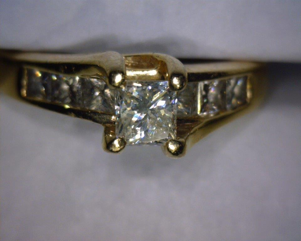 Princess cut center diamond