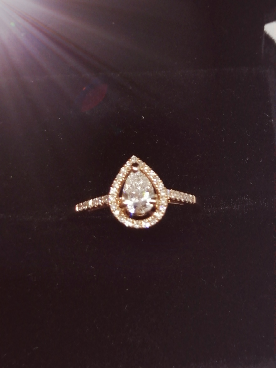 Stunning Pear Shaped GIA