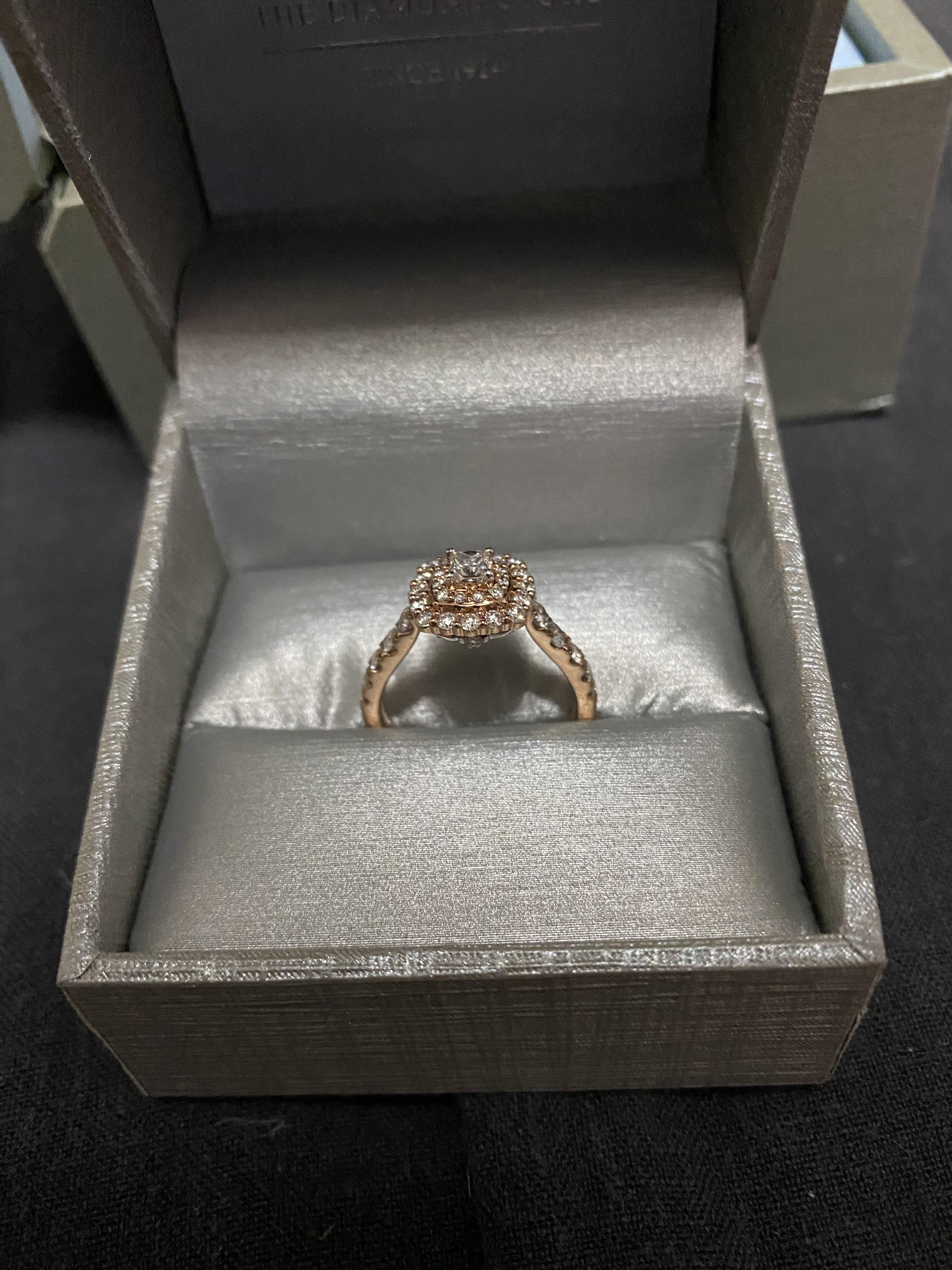 Zales Rose Gold Princess Cut Engagement Ring I Do Now I Don T