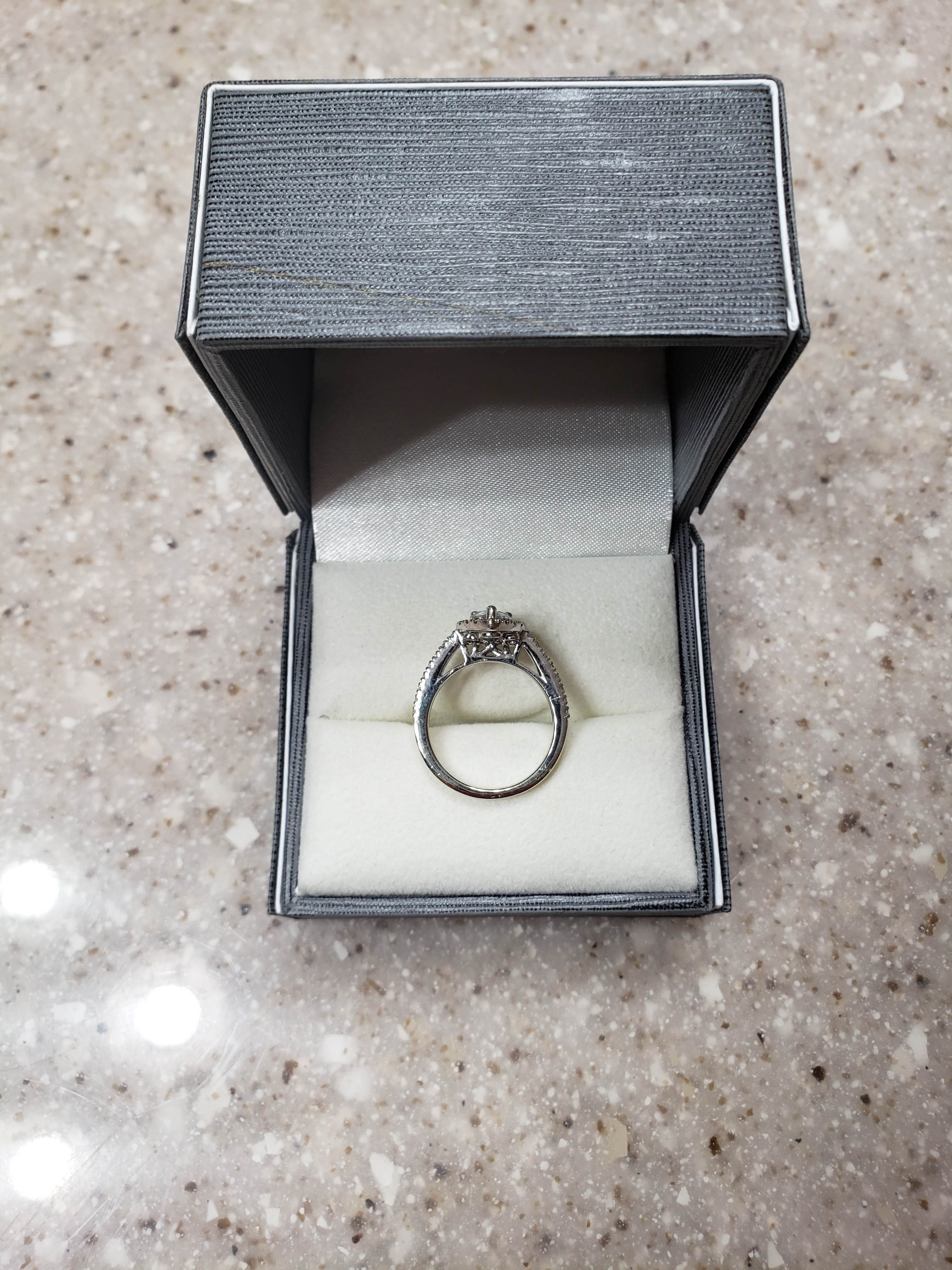 Pear Engagement Ring and