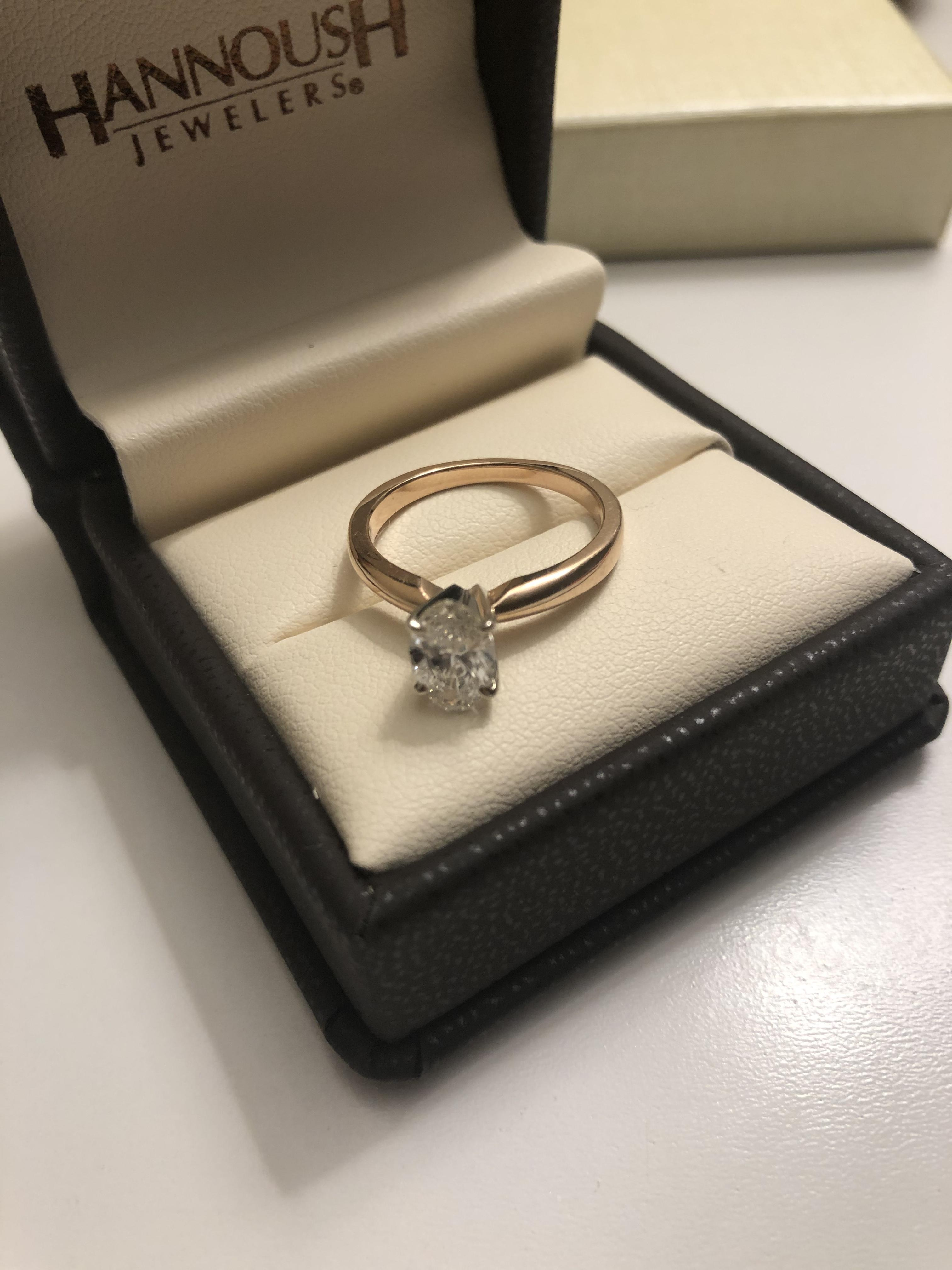 Oval Rose Gold Diamond