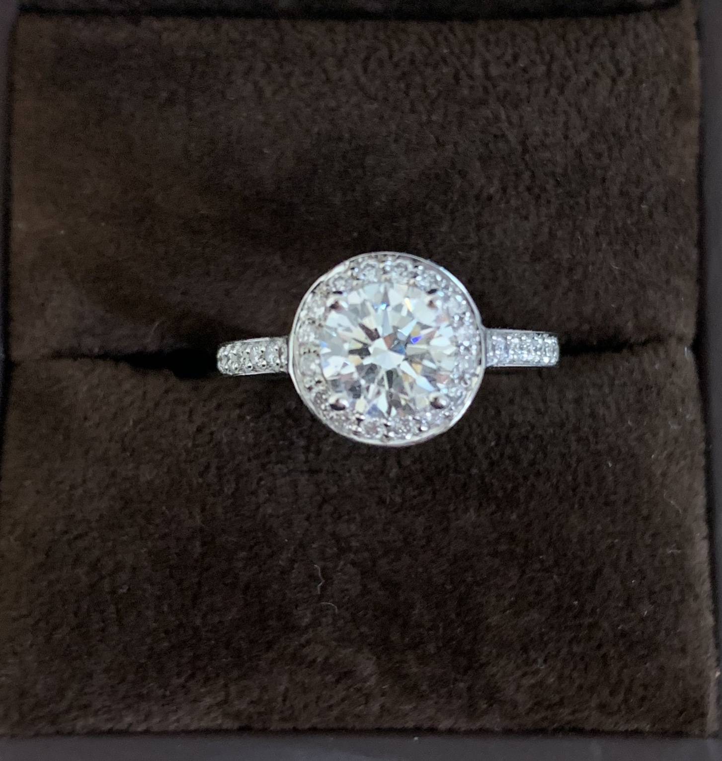 GIA Certified Platinum Engagement