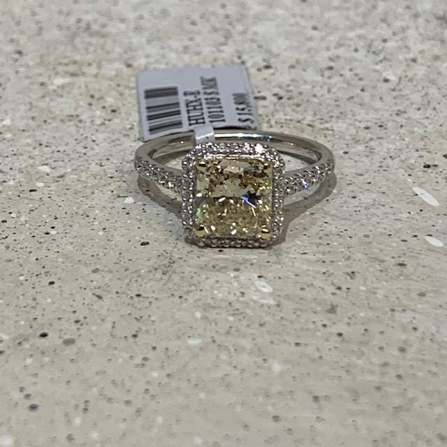 1.85 Carat Yellow Cushion/Radiant