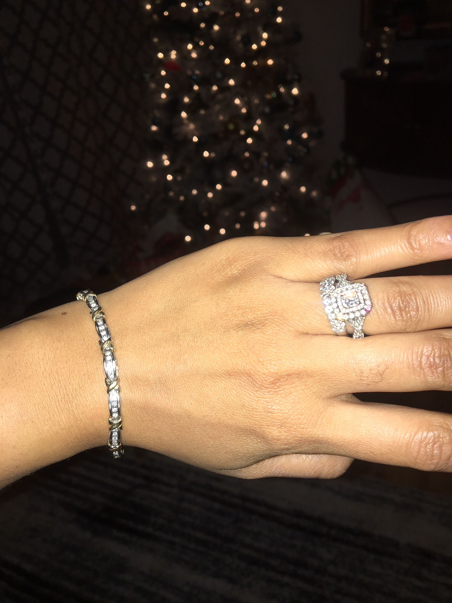 Zales Radiant Engagement ring