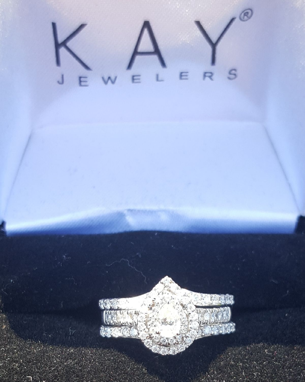 Kay Jewelers Pear Engagement With Ring Guard I Do Now I Don T