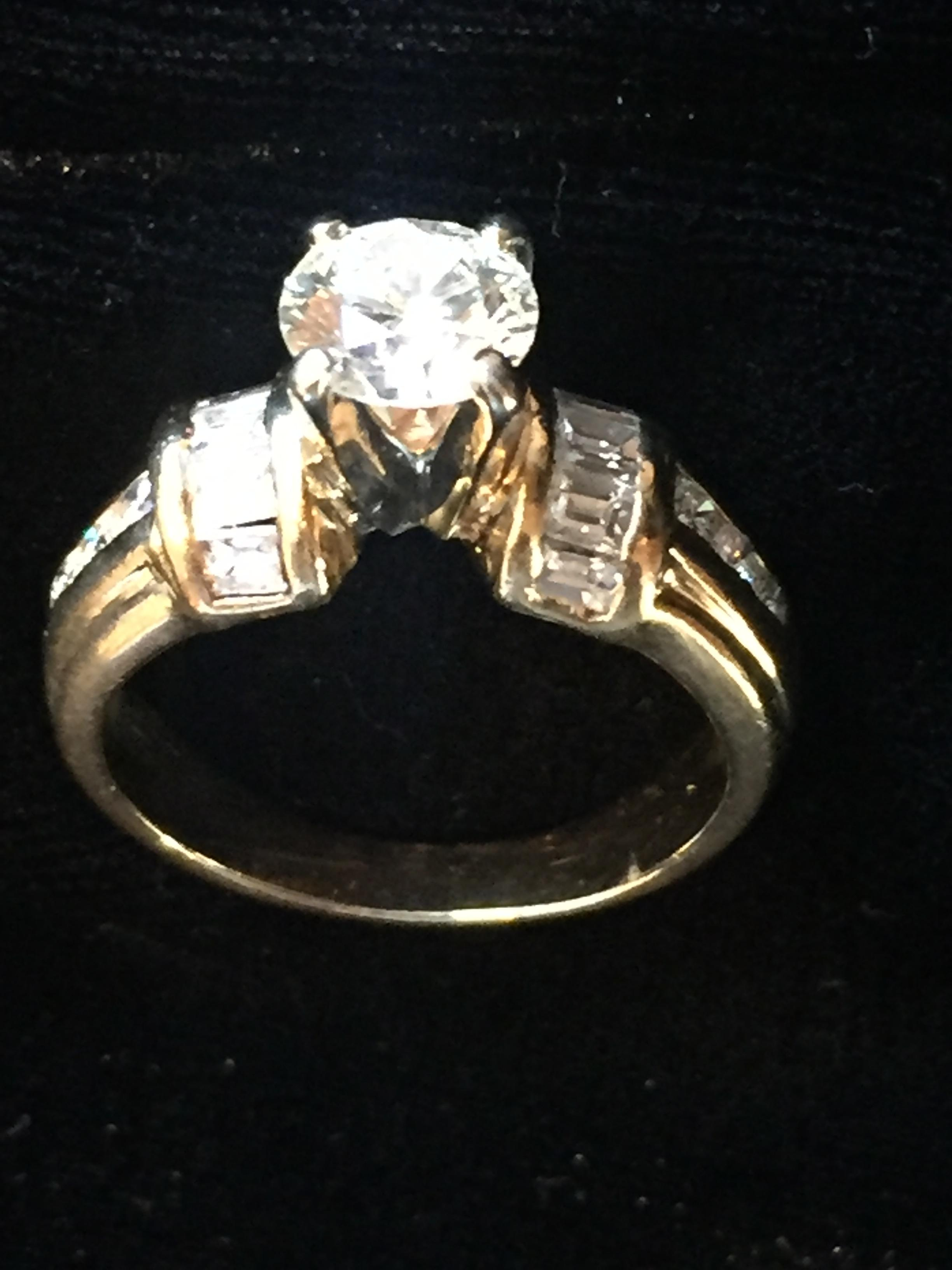 Woman Engagement Ring with