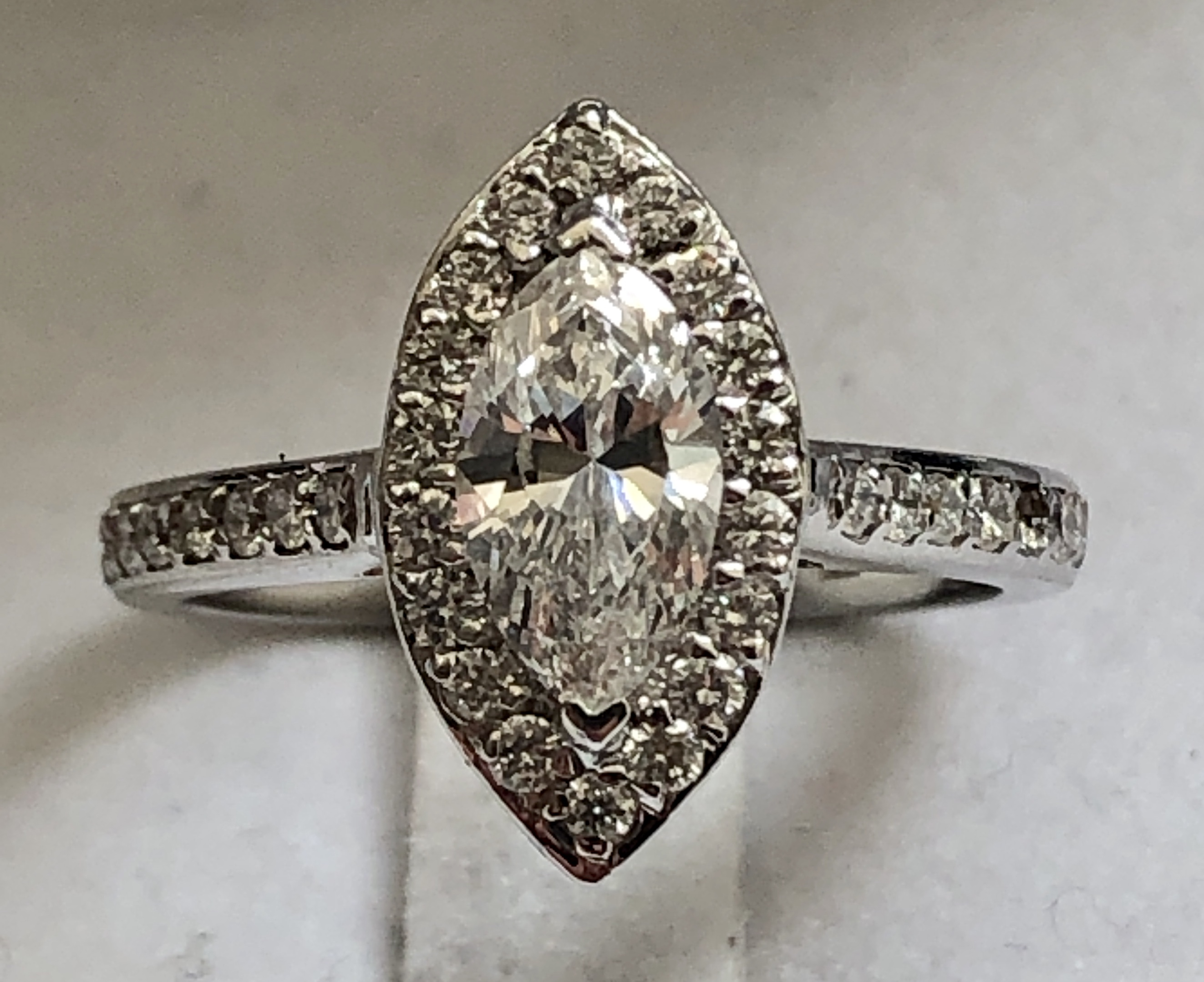 1.12ct Certified Marquise Diamond