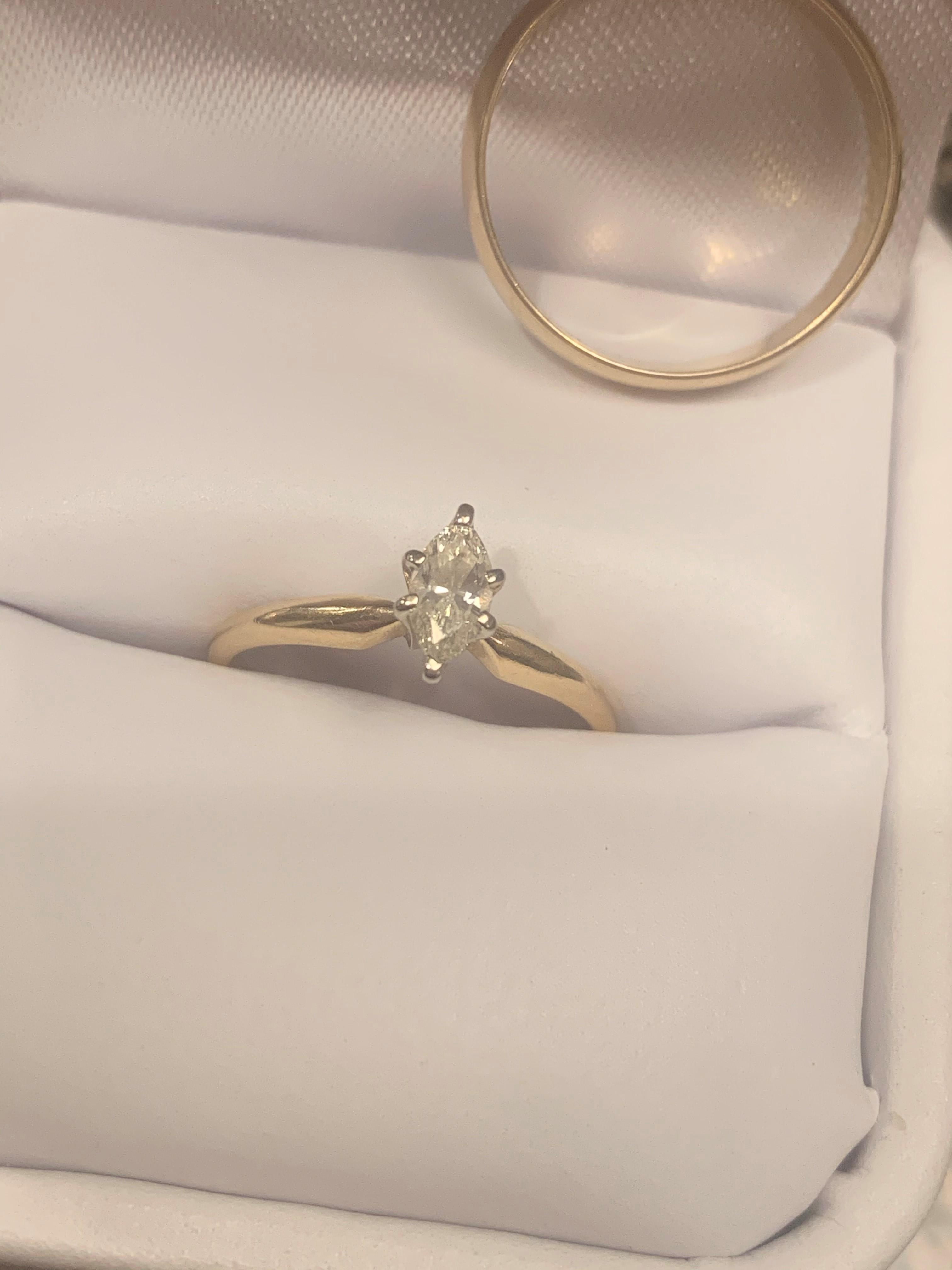 Marquise Diamond Solitaire and