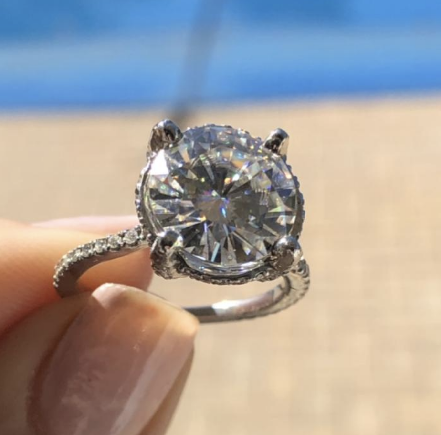 Custom made Diamond/Platinum ring