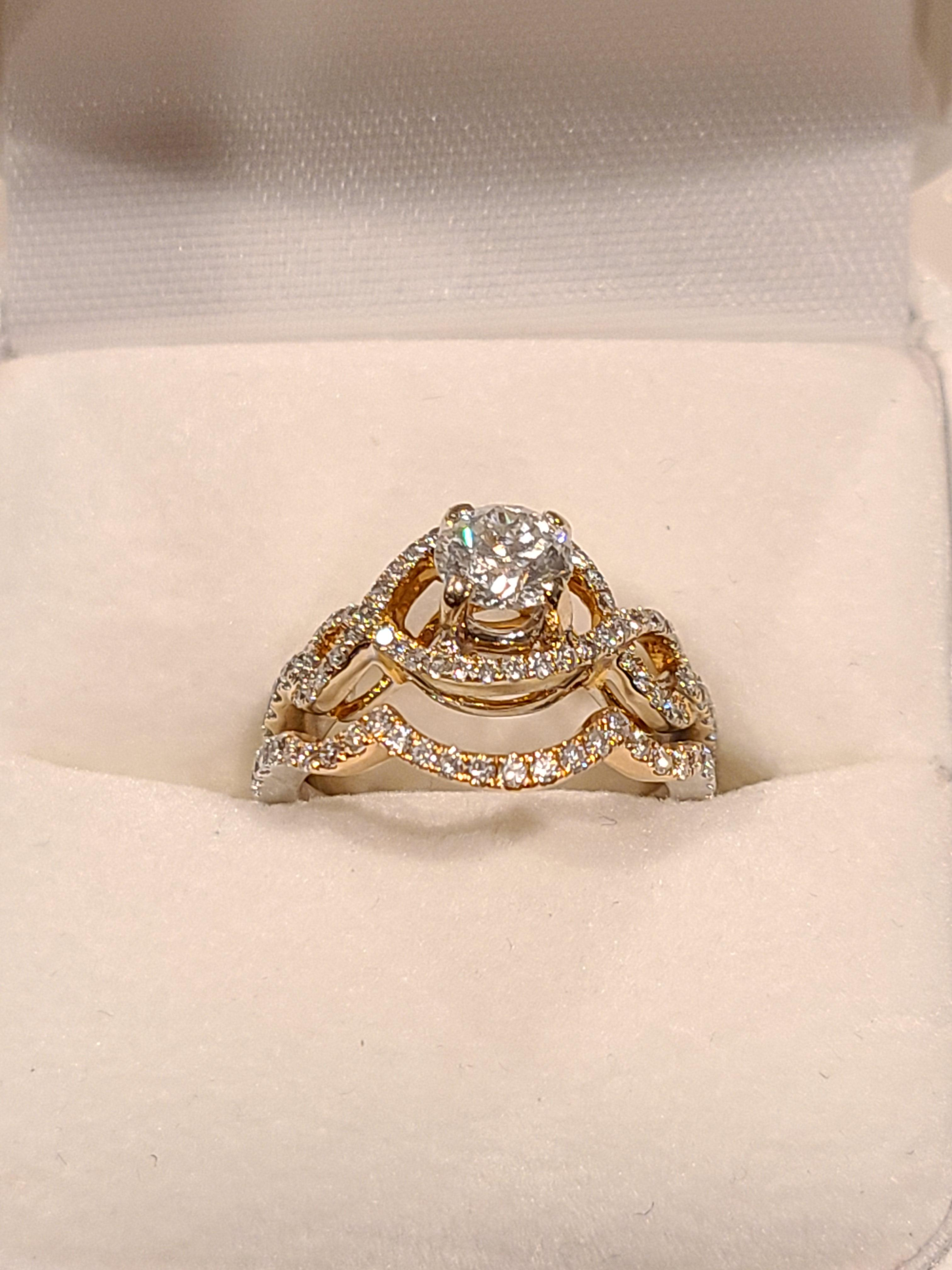 18kt. Two-tone white and