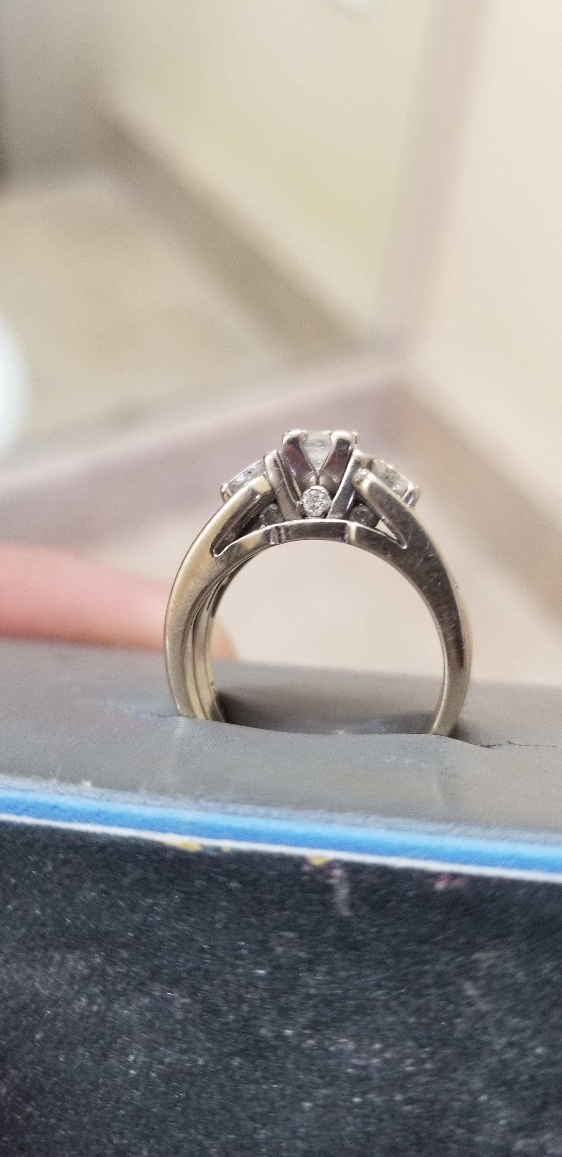 Engagement and wedding band