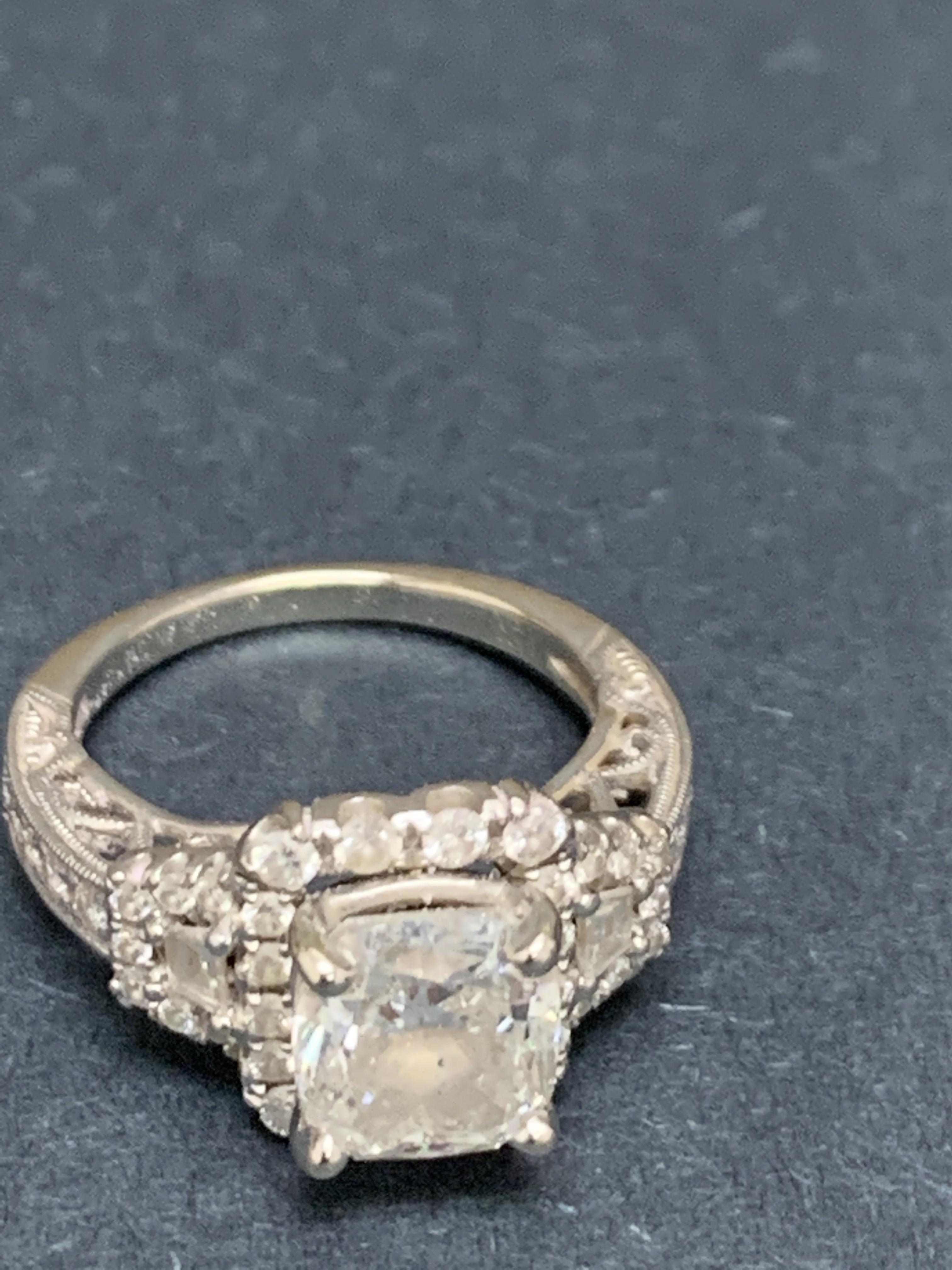 It is just a photo of Shane & Co Beautiful and intricate diamond engagement ring with center stone over 500.50 carats