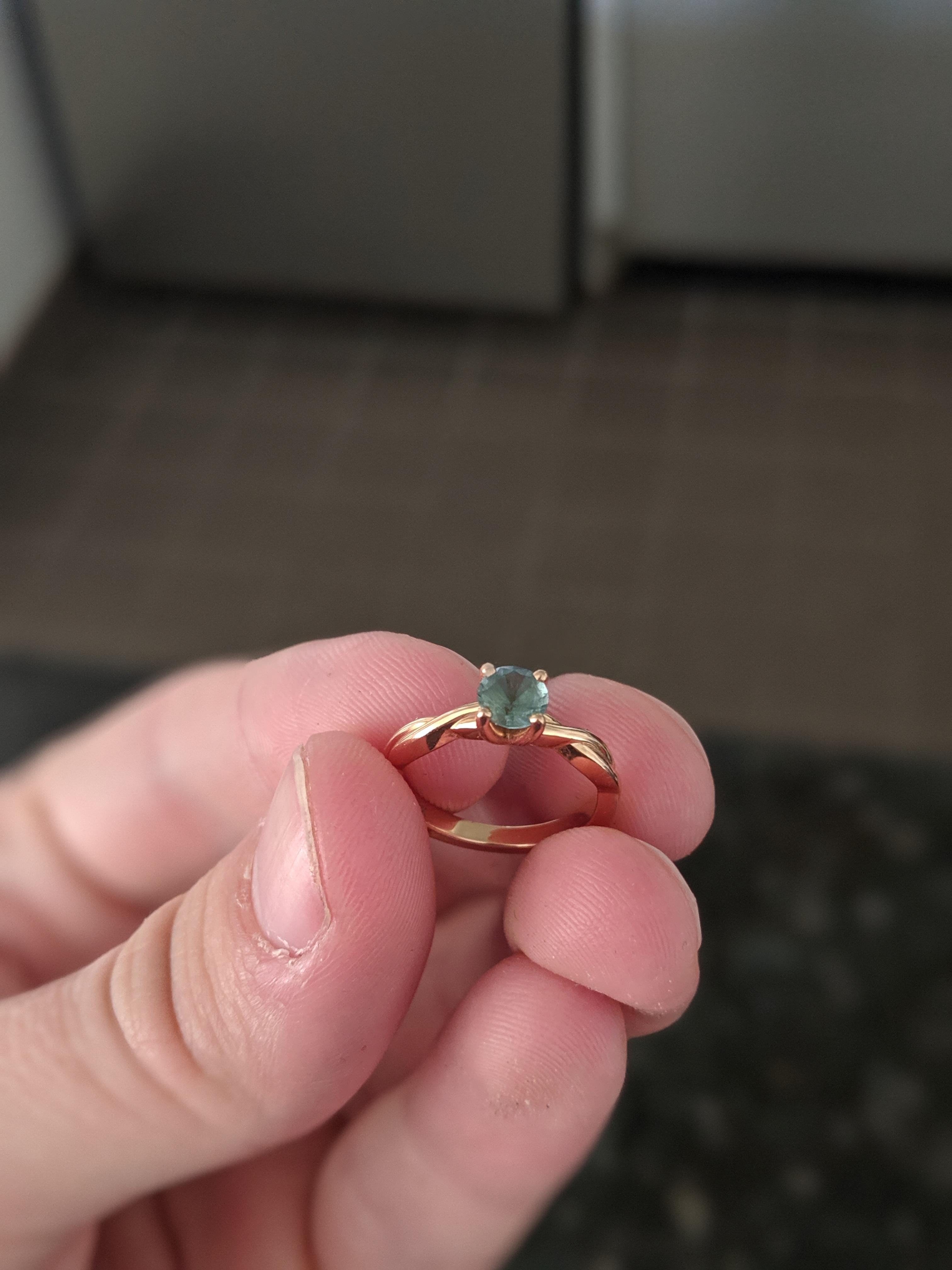Teal Sapphire Engagement Ring From Brilliant Earth I Do Now I Don T