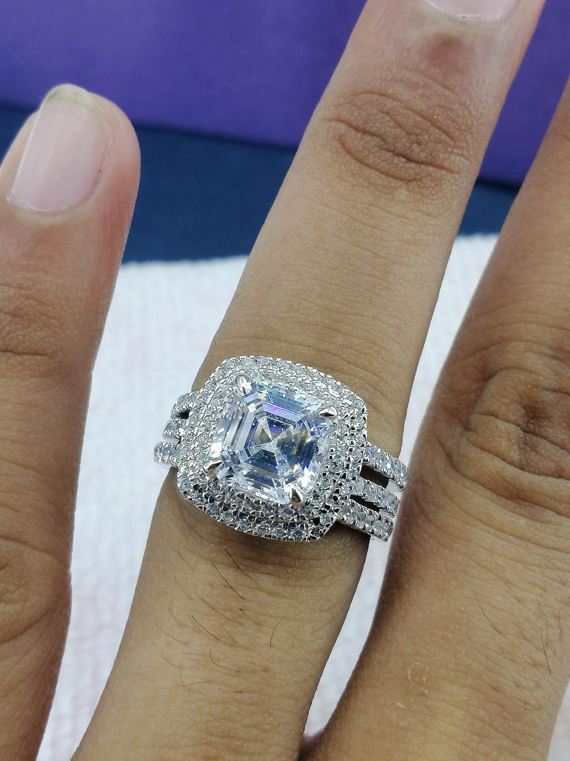 14k White Gold Plated