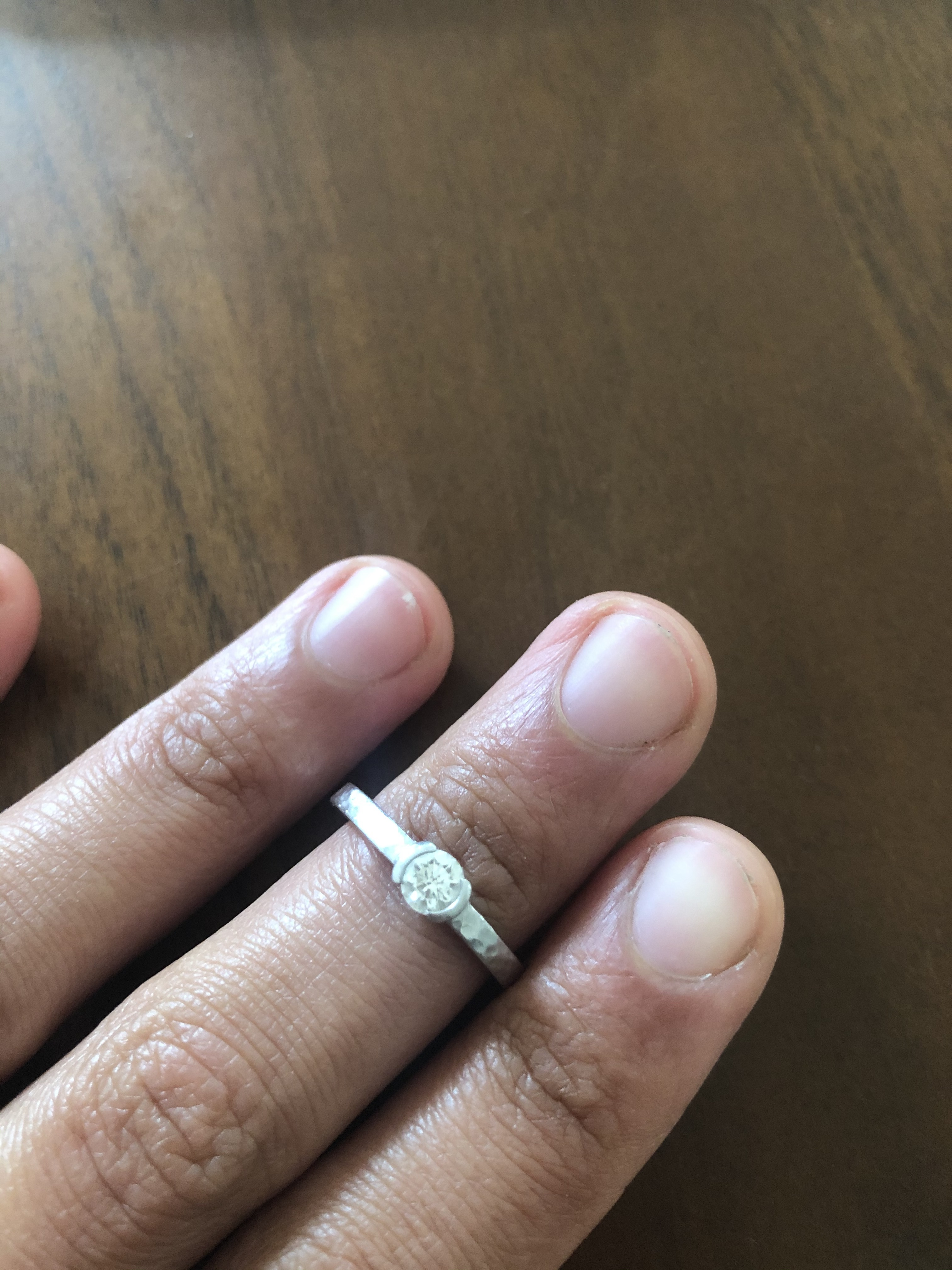 single diamond, platinum band