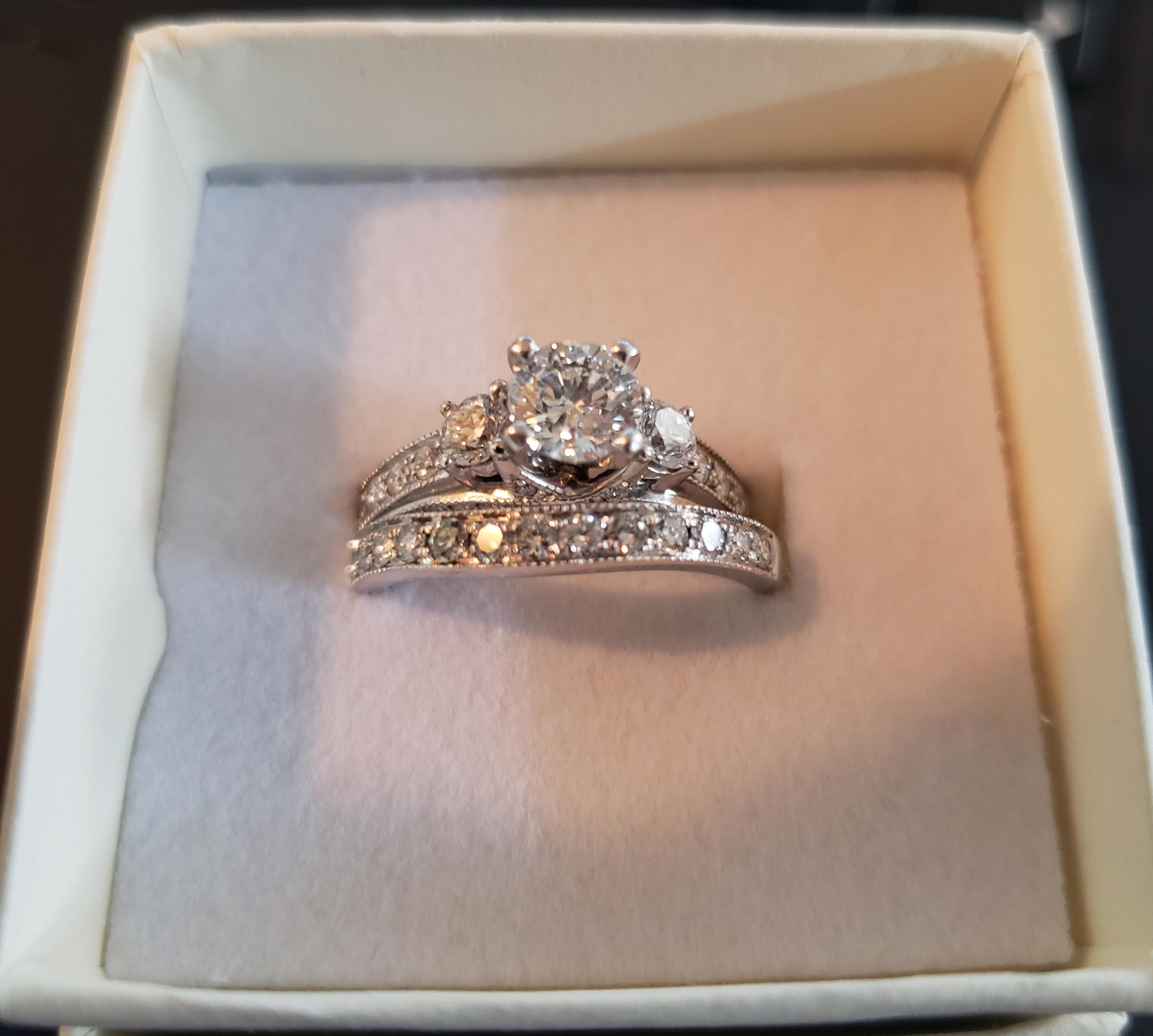 Beautiful engagement ring and